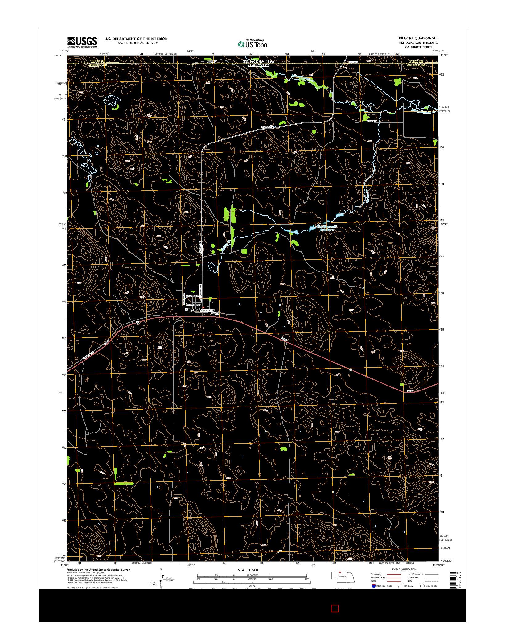 USGS US TOPO 7.5-MINUTE MAP FOR KILGORE, NE-SD 2014