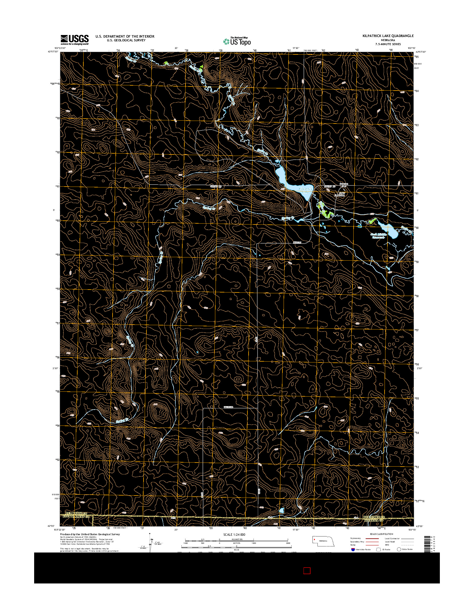 USGS US TOPO 7.5-MINUTE MAP FOR KILPATRICK LAKE, NE 2014