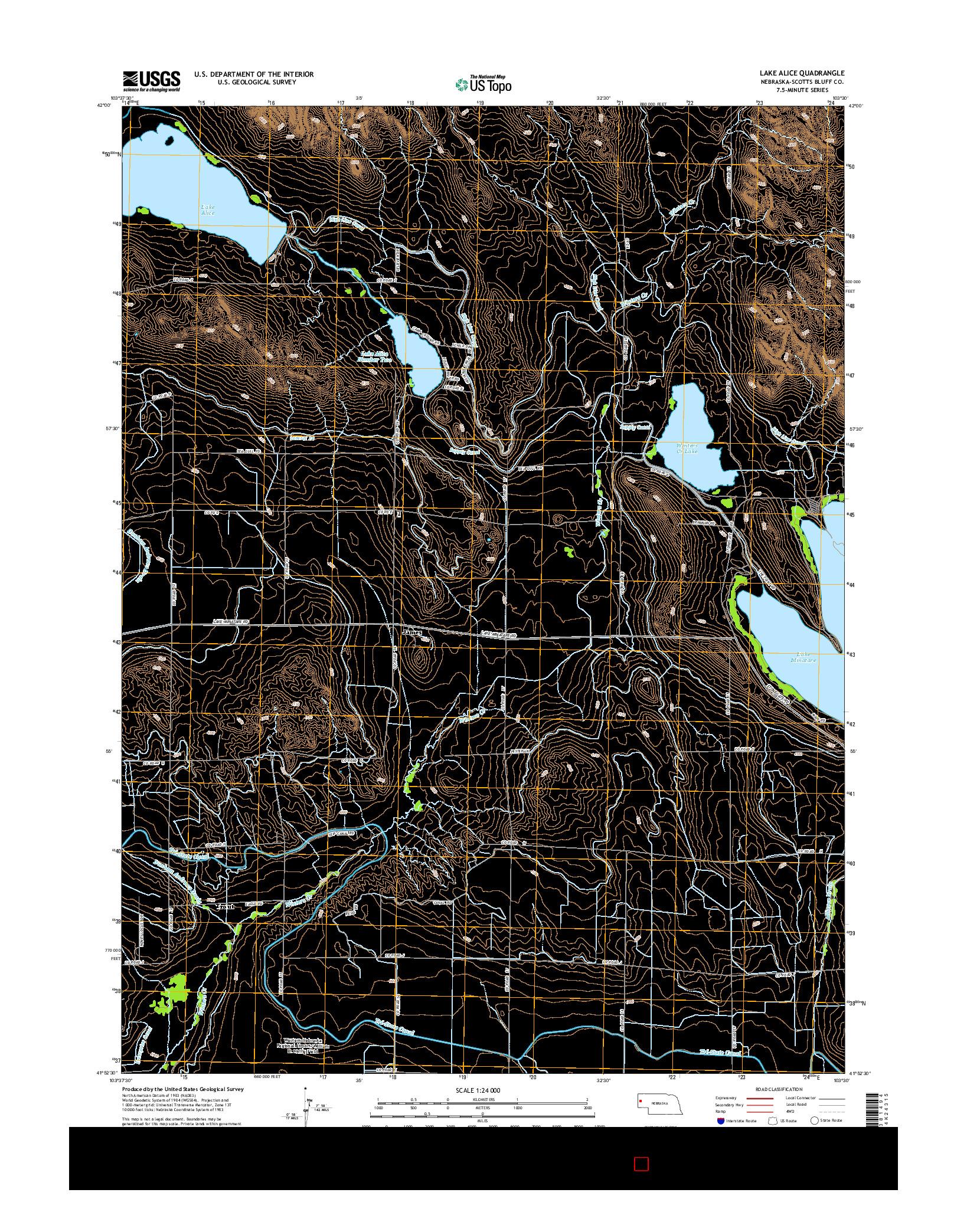 USGS US TOPO 7.5-MINUTE MAP FOR LAKE ALICE, NE 2014