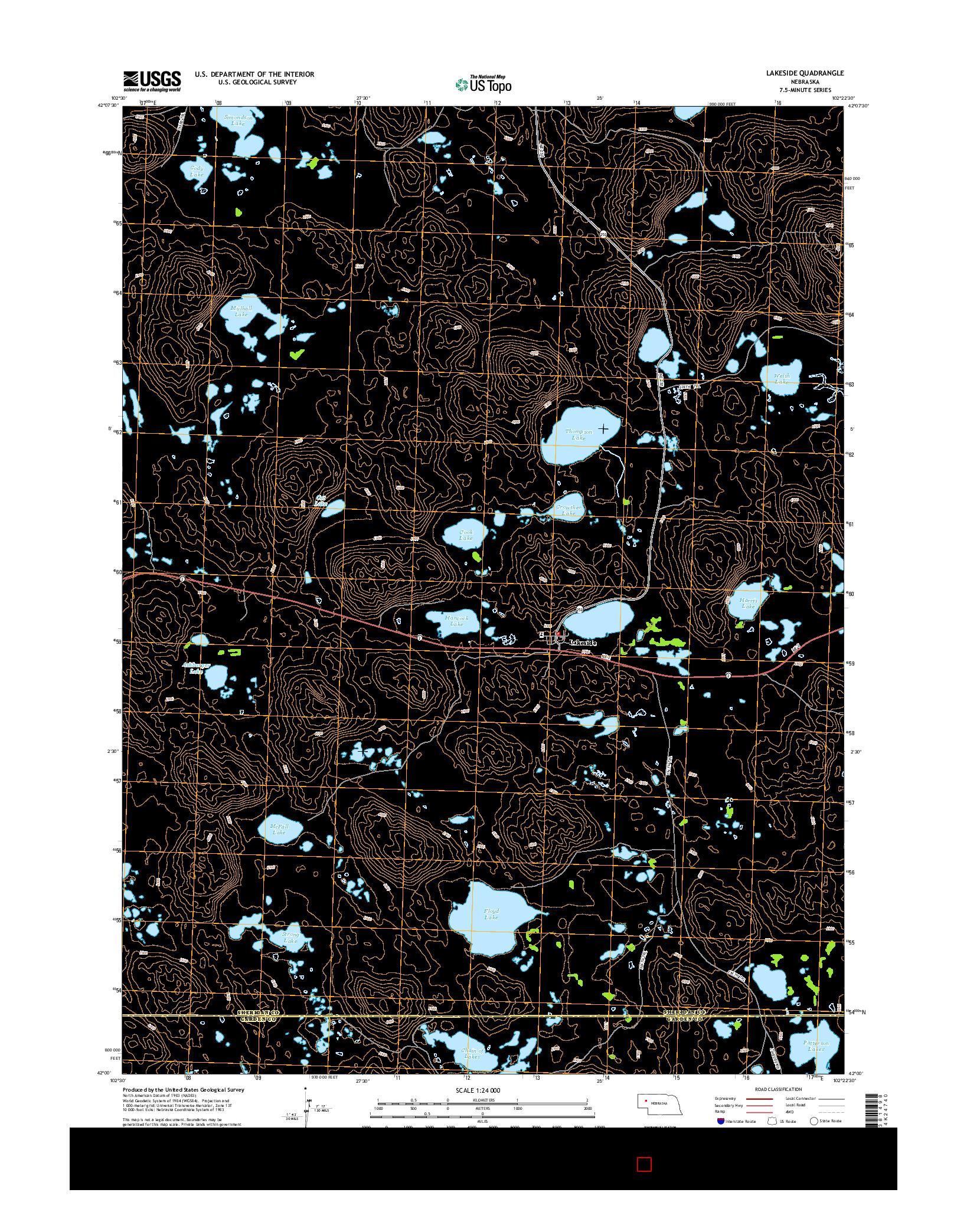 USGS US TOPO 7.5-MINUTE MAP FOR LAKESIDE, NE 2014