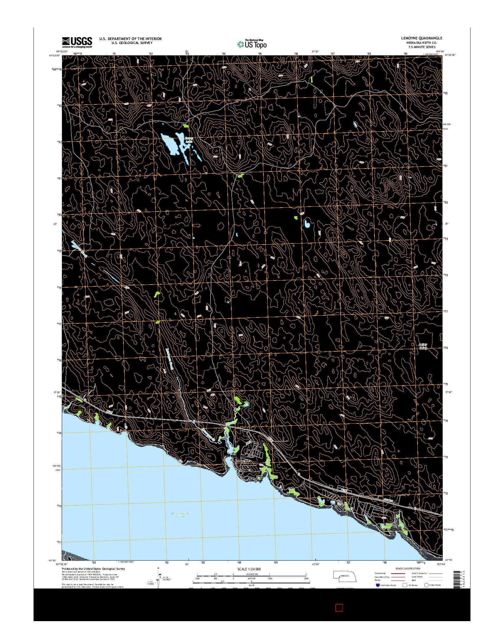 USGS US TOPO 7.5-MINUTE MAP FOR LEMOYNE, NE 2014