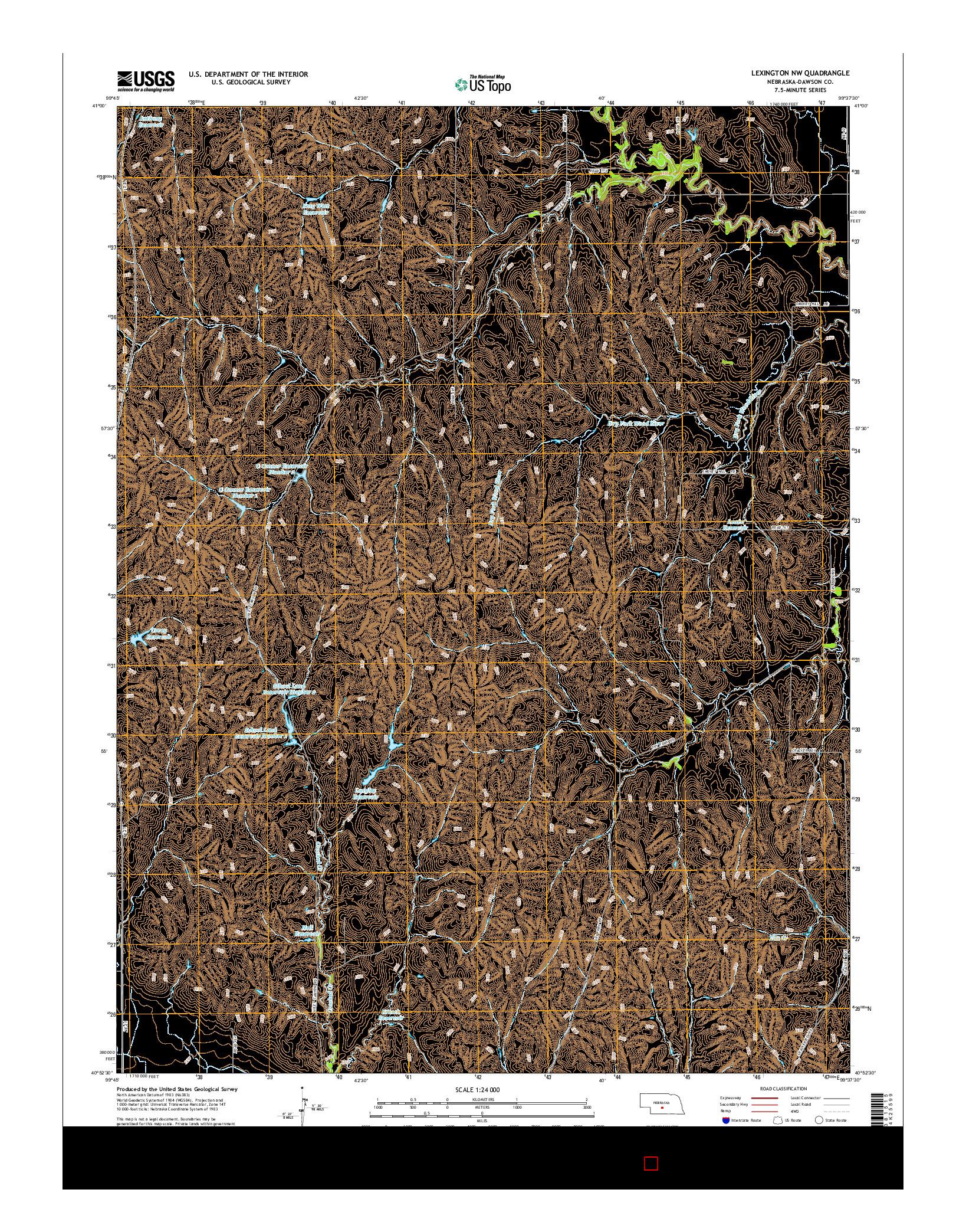 USGS US TOPO 7.5-MINUTE MAP FOR LEXINGTON NW, NE 2014