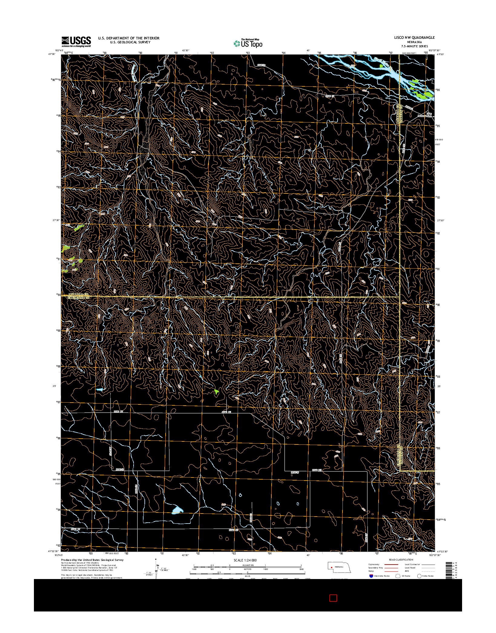 USGS US TOPO 7.5-MINUTE MAP FOR LISCO NW, NE 2014