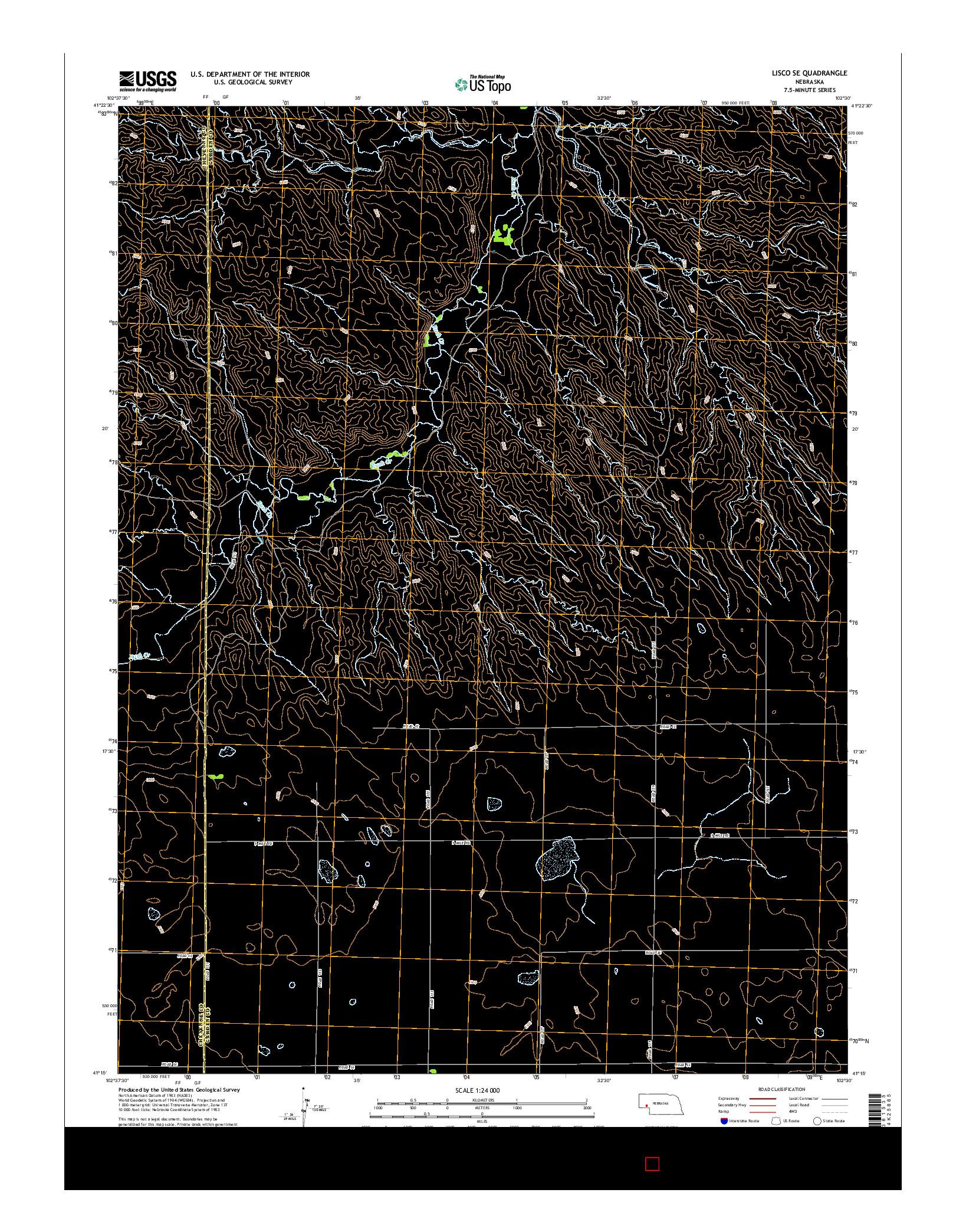 USGS US TOPO 7.5-MINUTE MAP FOR LISCO SE, NE 2014