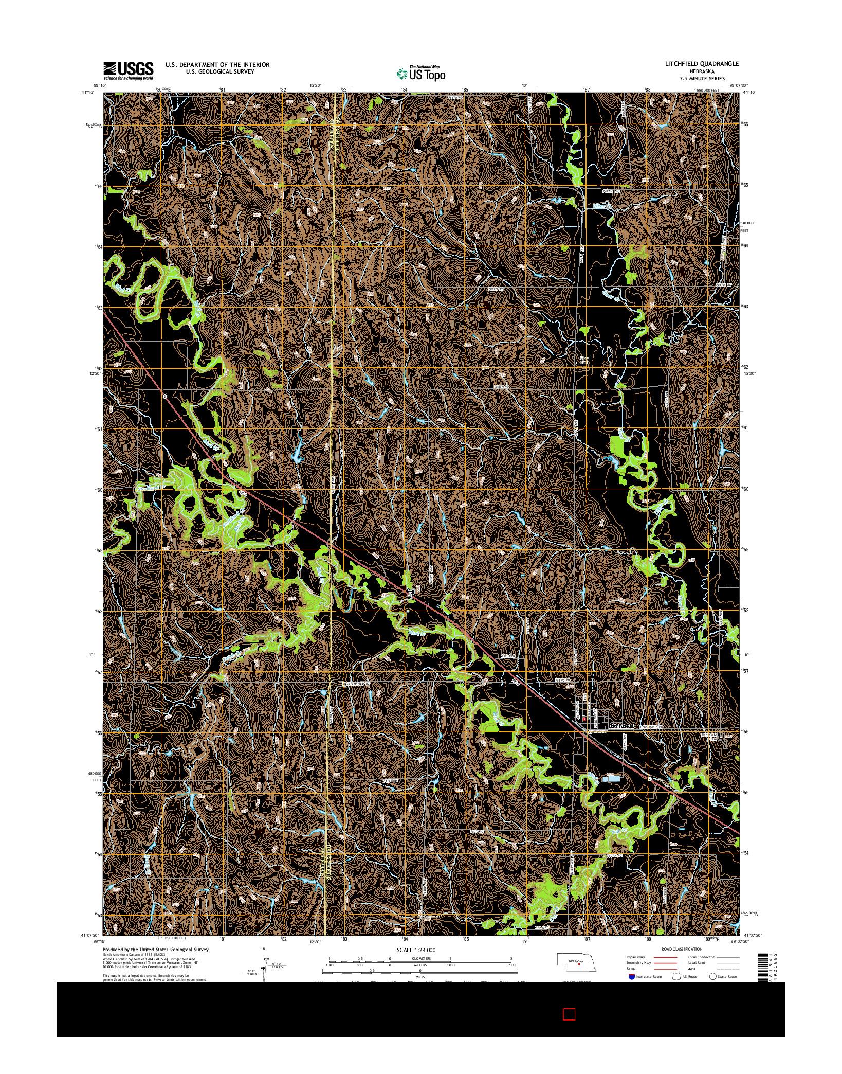 USGS US TOPO 7.5-MINUTE MAP FOR LITCHFIELD, NE 2014