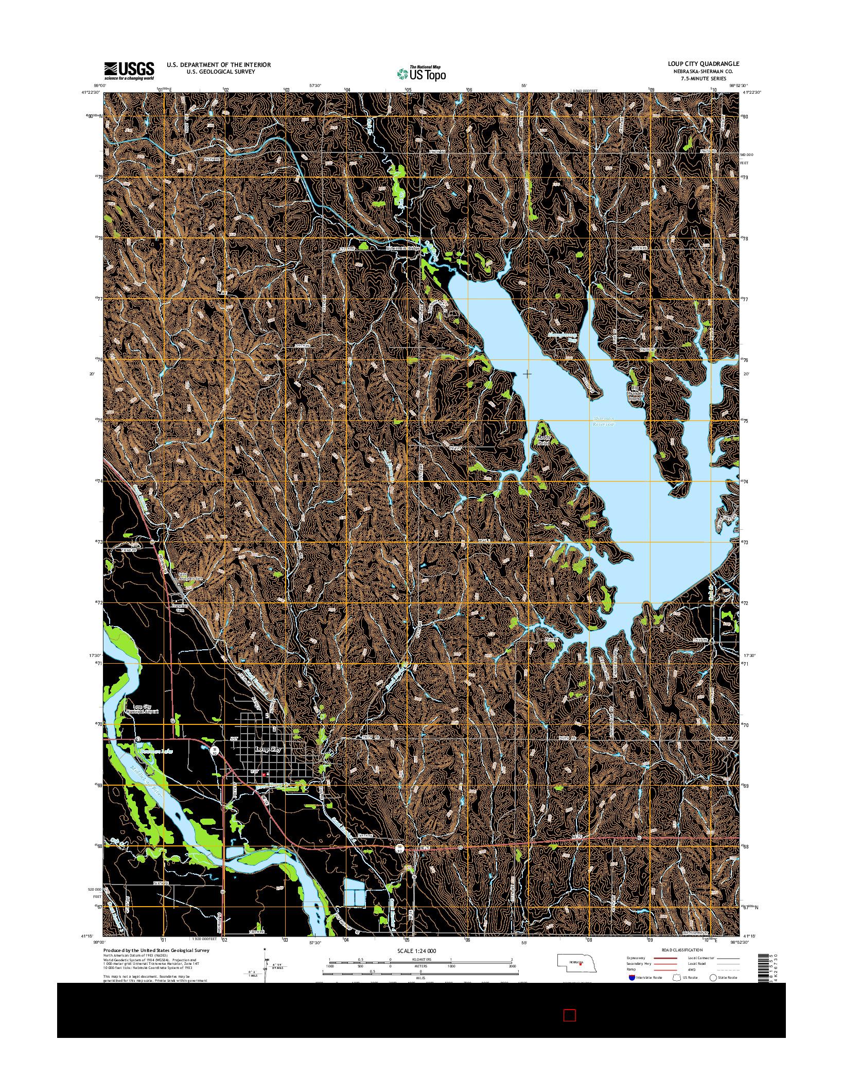 USGS US TOPO 7.5-MINUTE MAP FOR LOUP CITY, NE 2014