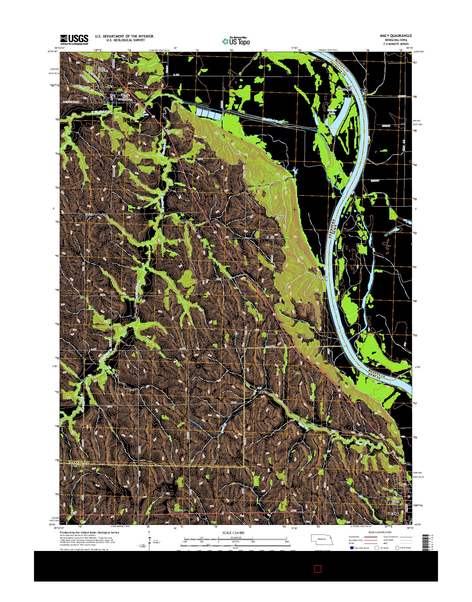 USGS US TOPO 7.5-MINUTE MAP FOR MACY, NE-IA 2014