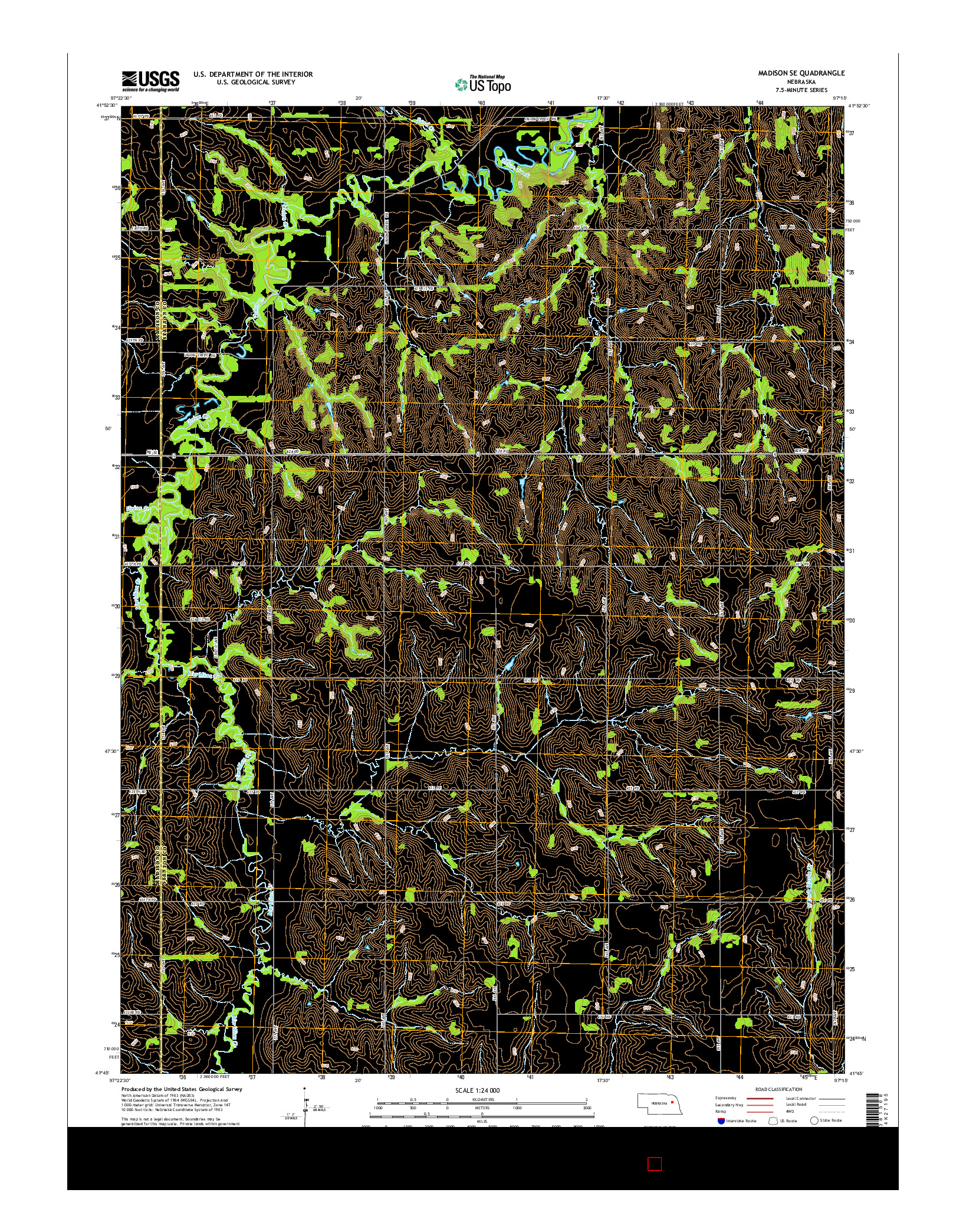 USGS US TOPO 7.5-MINUTE MAP FOR MADISON SE, NE 2014