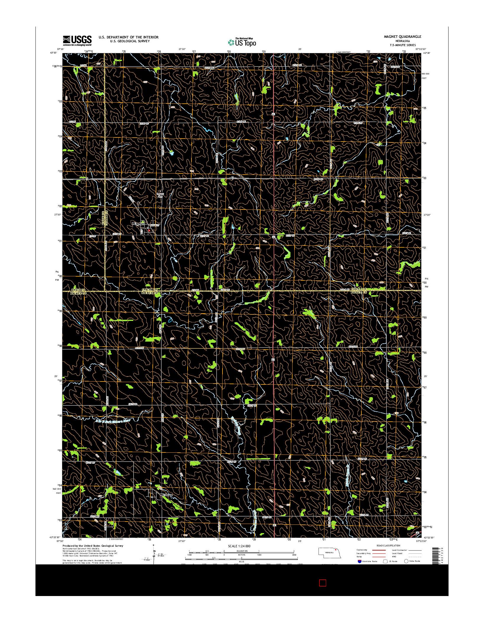 USGS US TOPO 7.5-MINUTE MAP FOR MAGNET, NE 2014