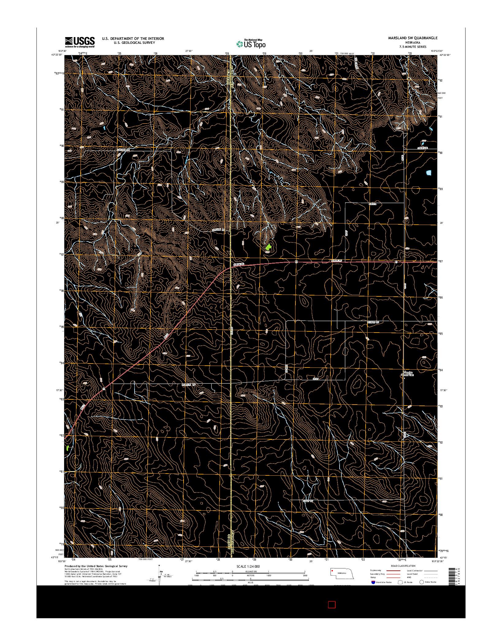 USGS US TOPO 7.5-MINUTE MAP FOR MARSLAND SW, NE 2014