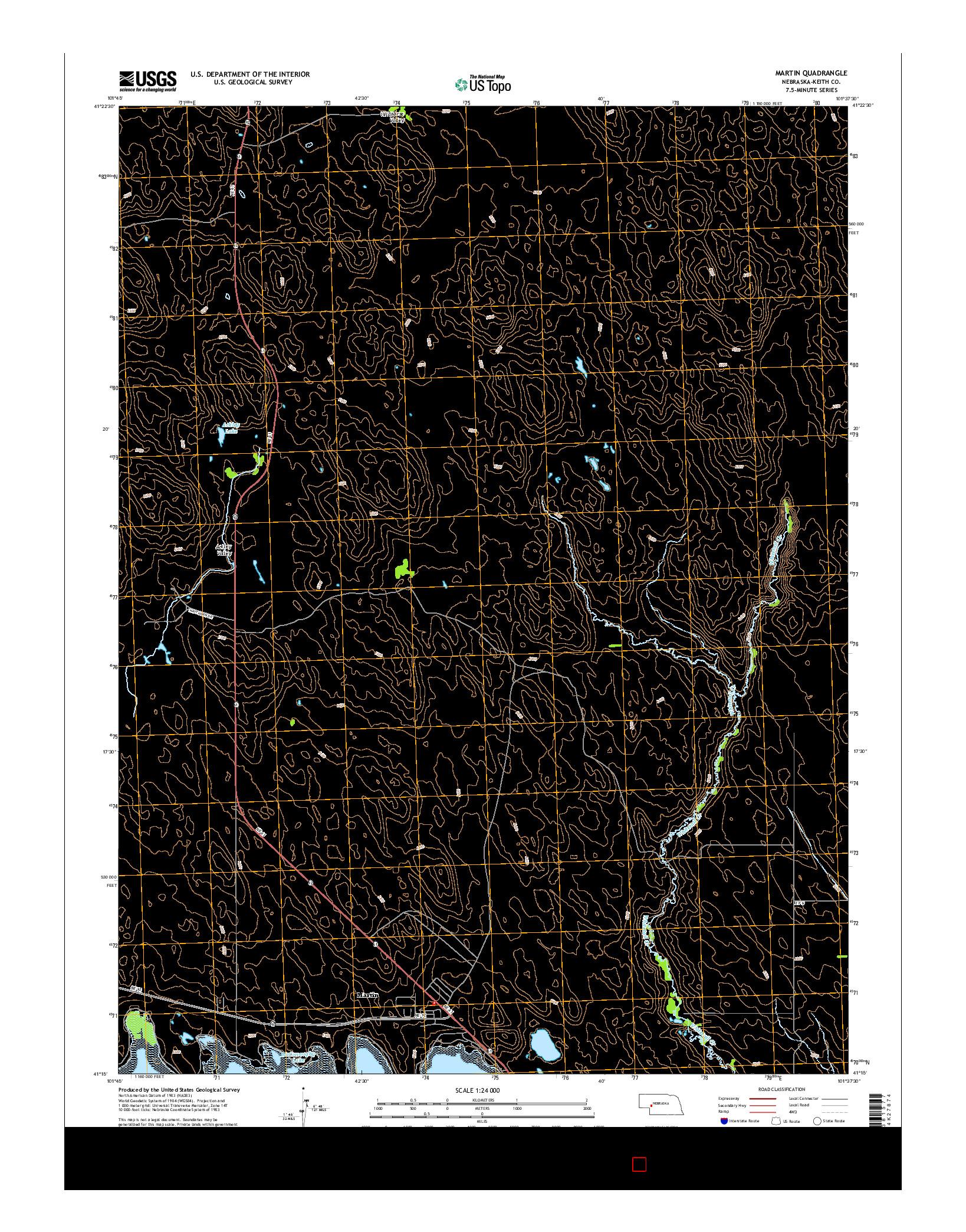 USGS US TOPO 7.5-MINUTE MAP FOR MARTIN, NE 2014