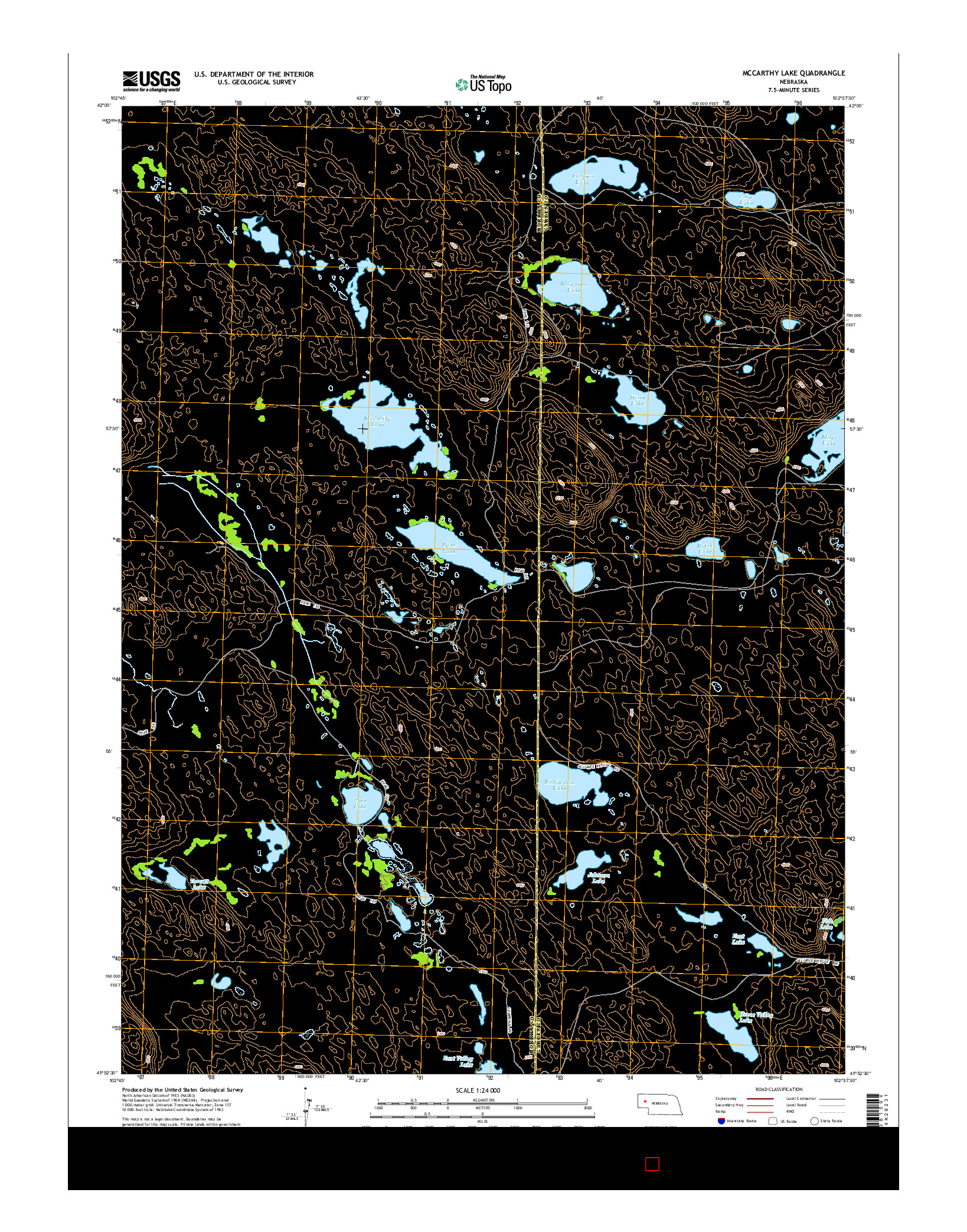 USGS US TOPO 7.5-MINUTE MAP FOR MCCARTHY LAKE, NE 2014
