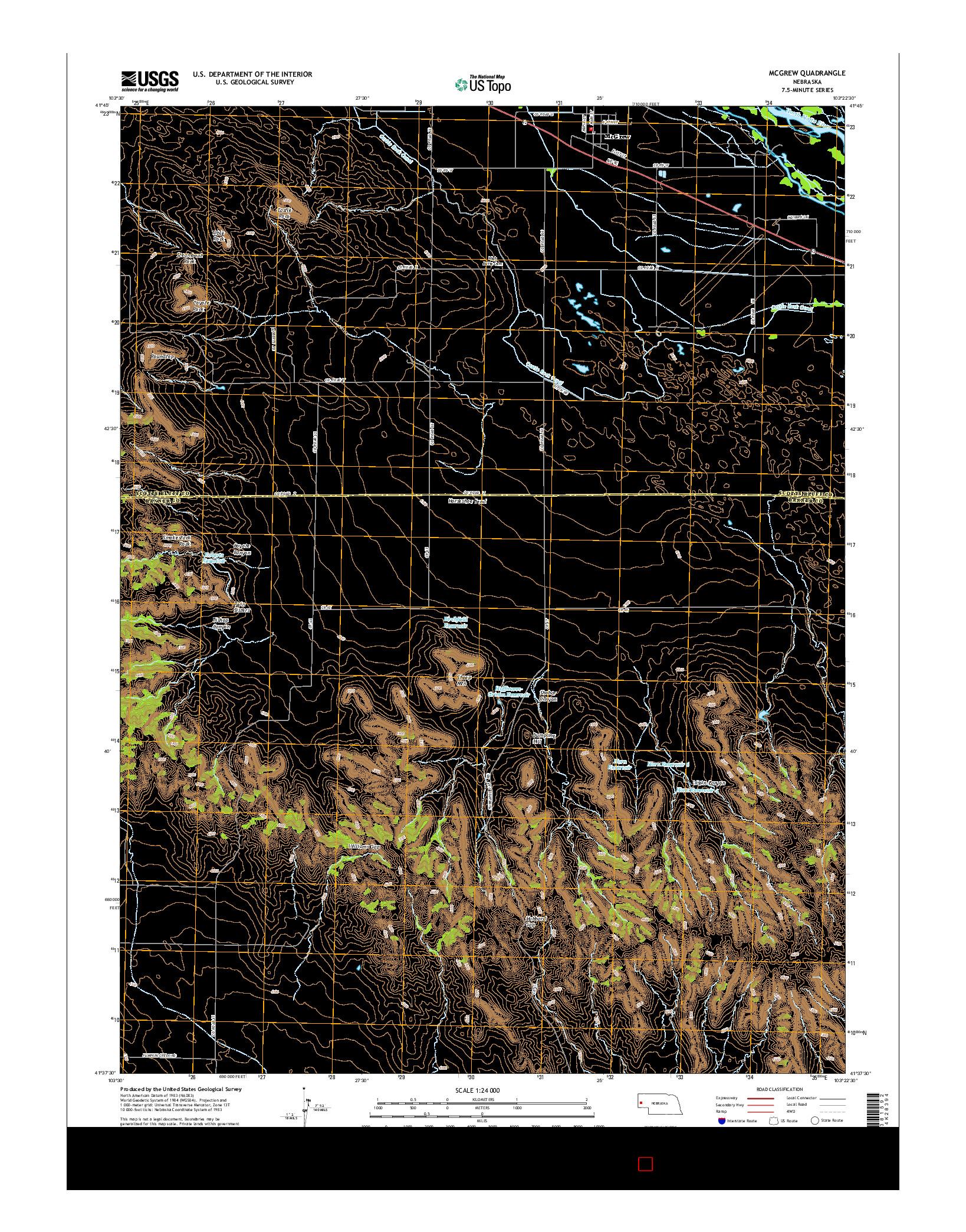 USGS US TOPO 7.5-MINUTE MAP FOR MCGREW, NE 2014