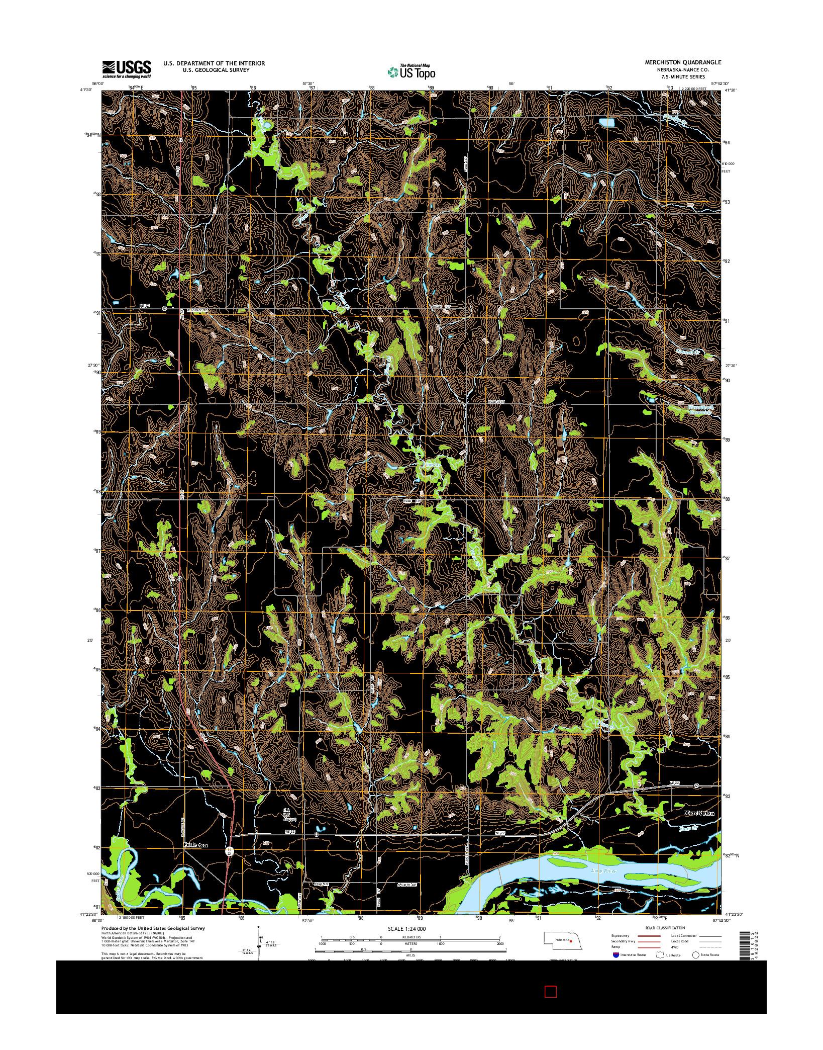 USGS US TOPO 7.5-MINUTE MAP FOR MERCHISTON, NE 2014