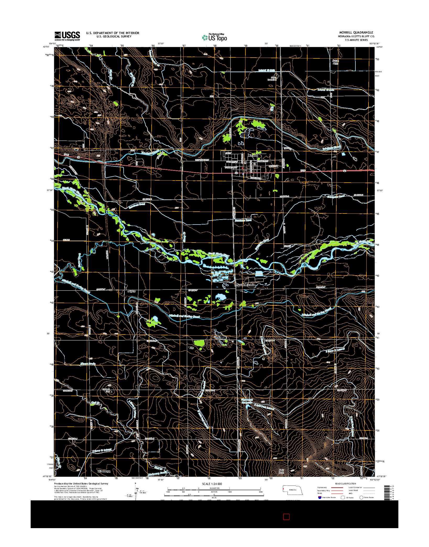 USGS US TOPO 7.5-MINUTE MAP FOR MORRILL, NE 2014