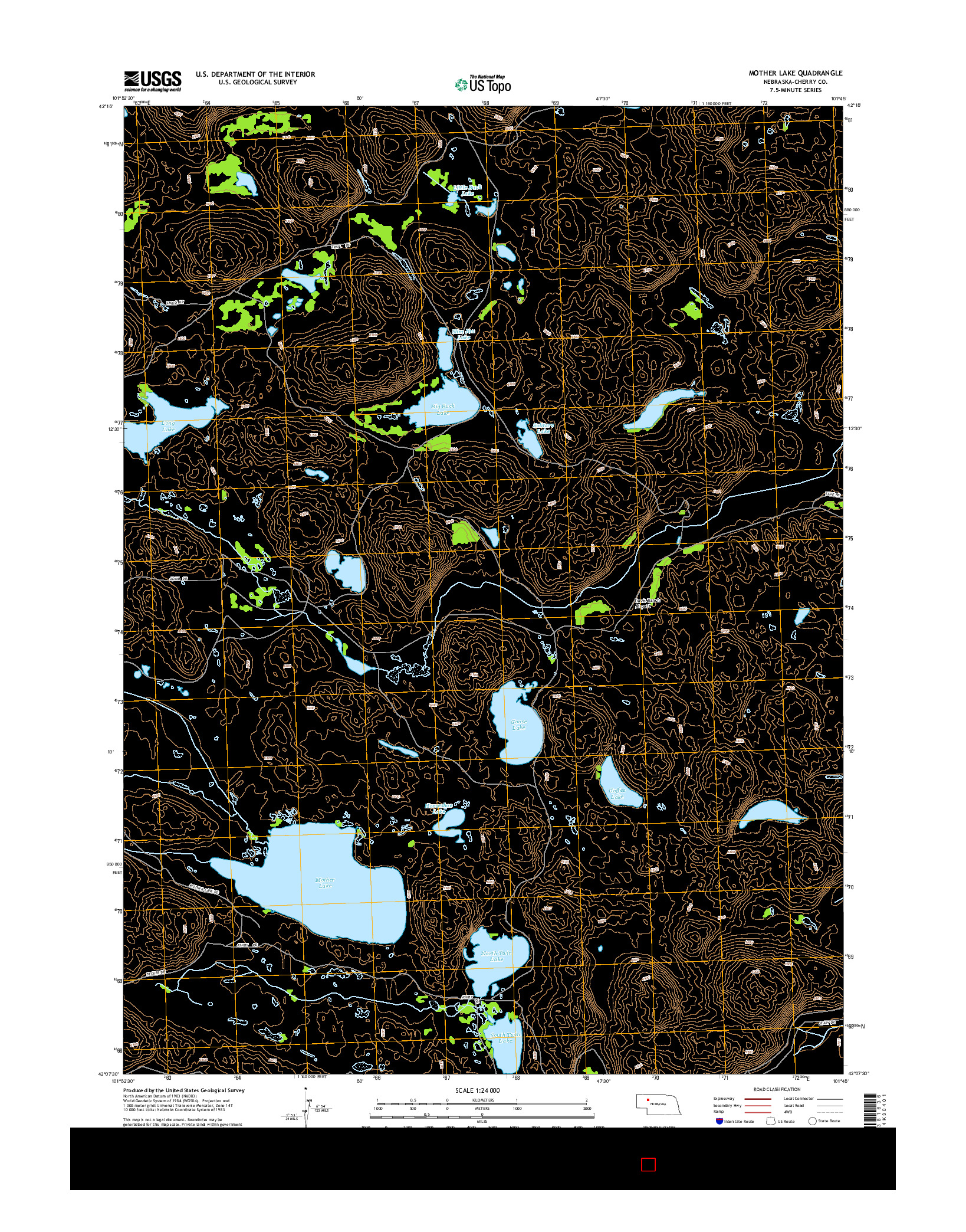USGS US TOPO 7.5-MINUTE MAP FOR MOTHER LAKE, NE 2014