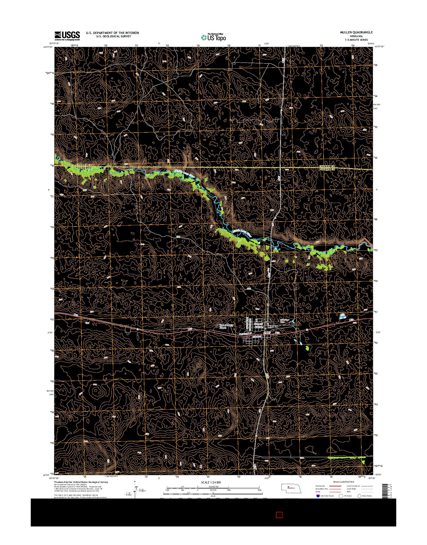 USGS US TOPO 7.5-MINUTE MAP FOR MULLEN, NE 2014
