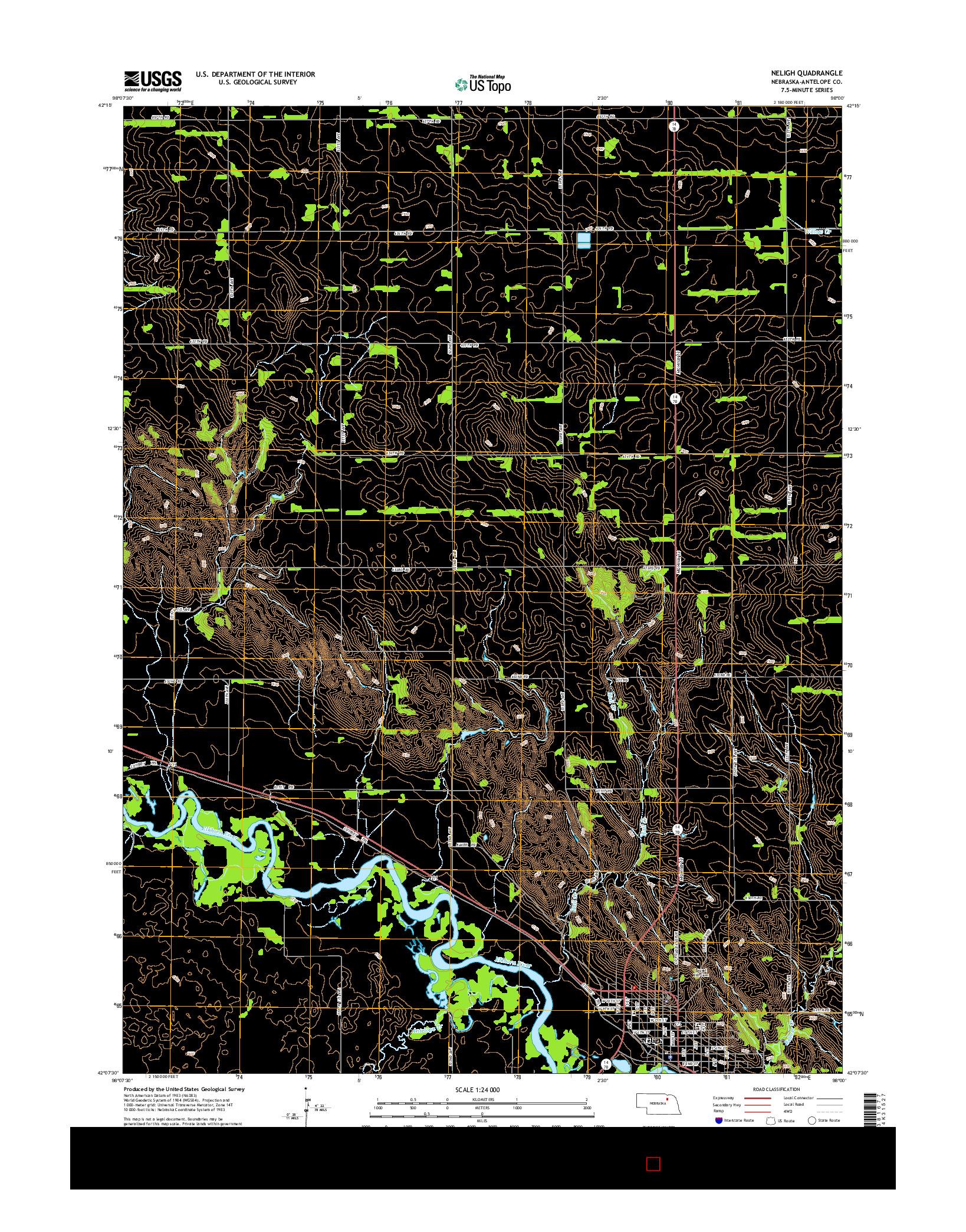 USGS US TOPO 7.5-MINUTE MAP FOR NELIGH, NE 2014