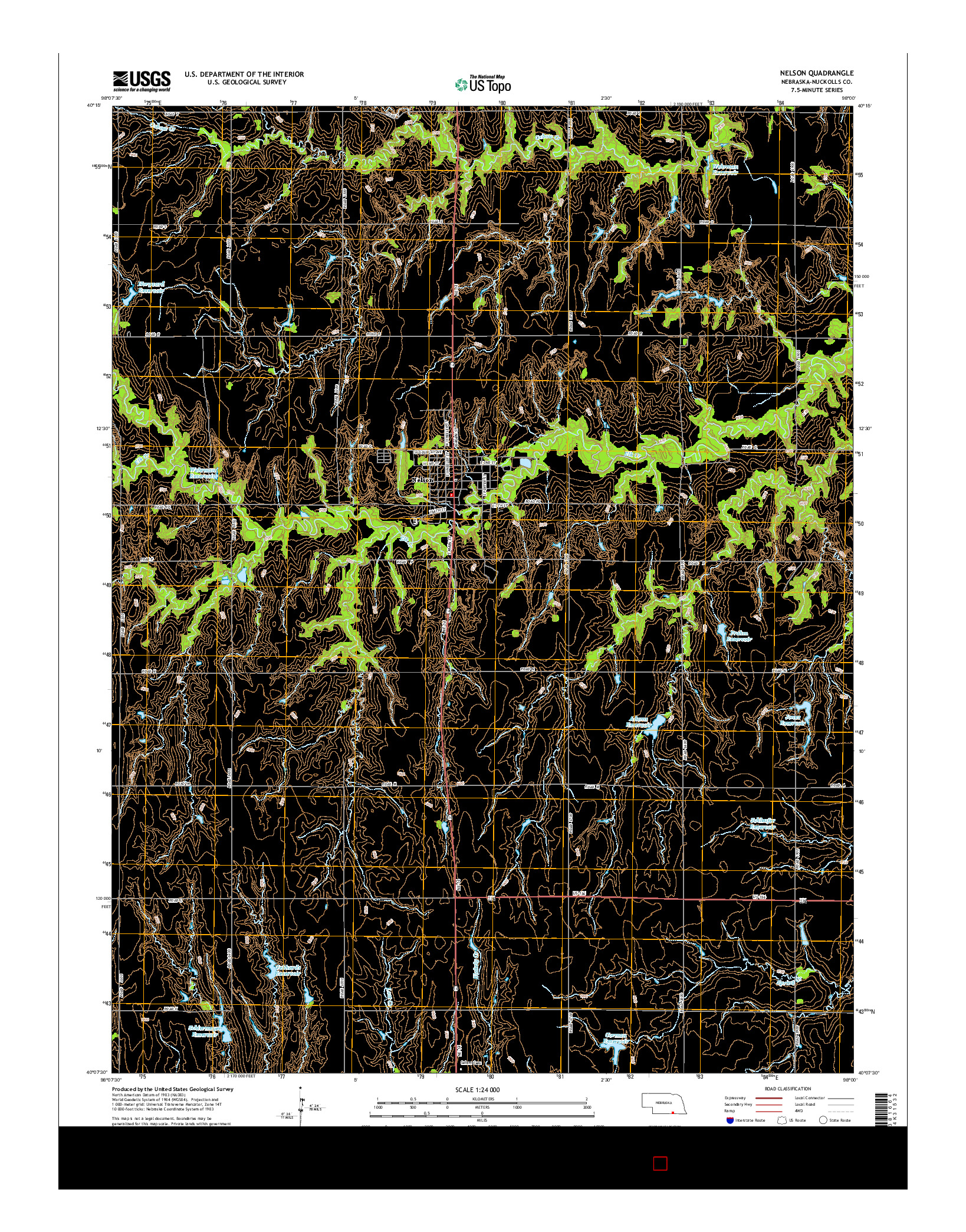 USGS US TOPO 7.5-MINUTE MAP FOR NELSON, NE 2014