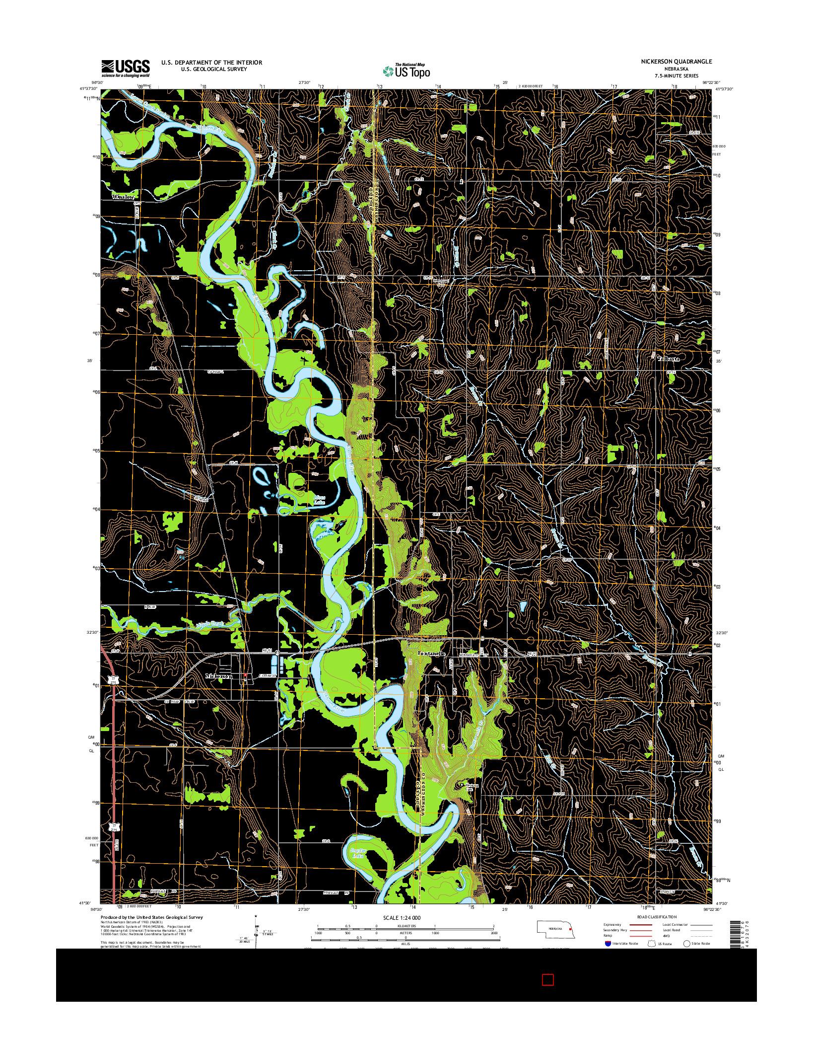 USGS US TOPO 7.5-MINUTE MAP FOR NICKERSON, NE 2014