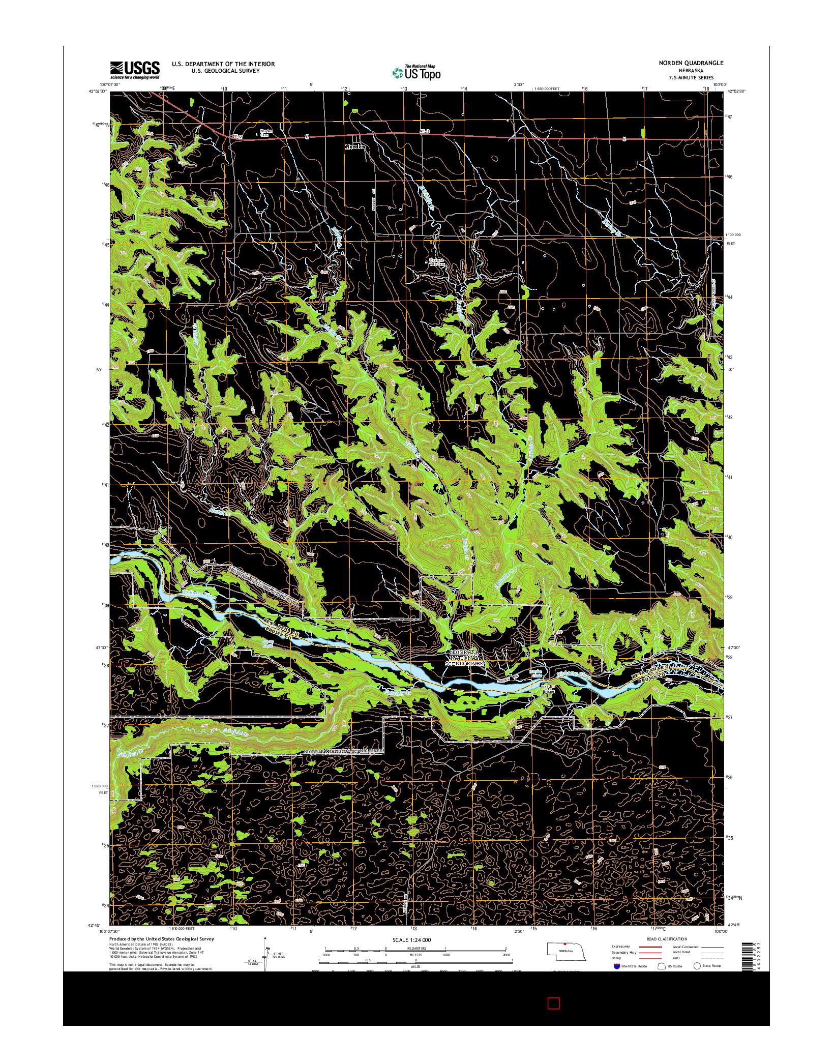 USGS US TOPO 7.5-MINUTE MAP FOR NORDEN, NE 2014