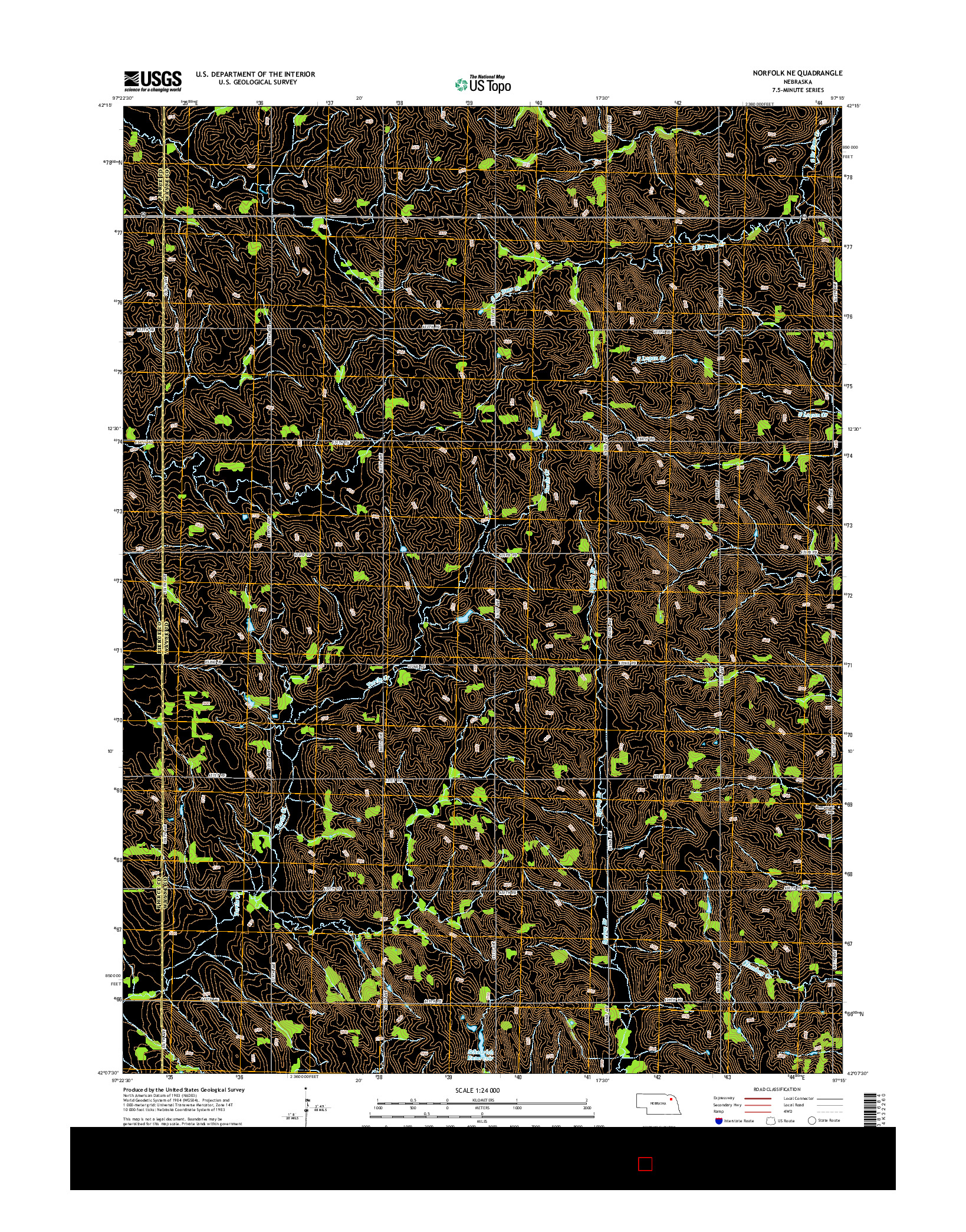 USGS US TOPO 7.5-MINUTE MAP FOR NORFOLK NE, NE 2014