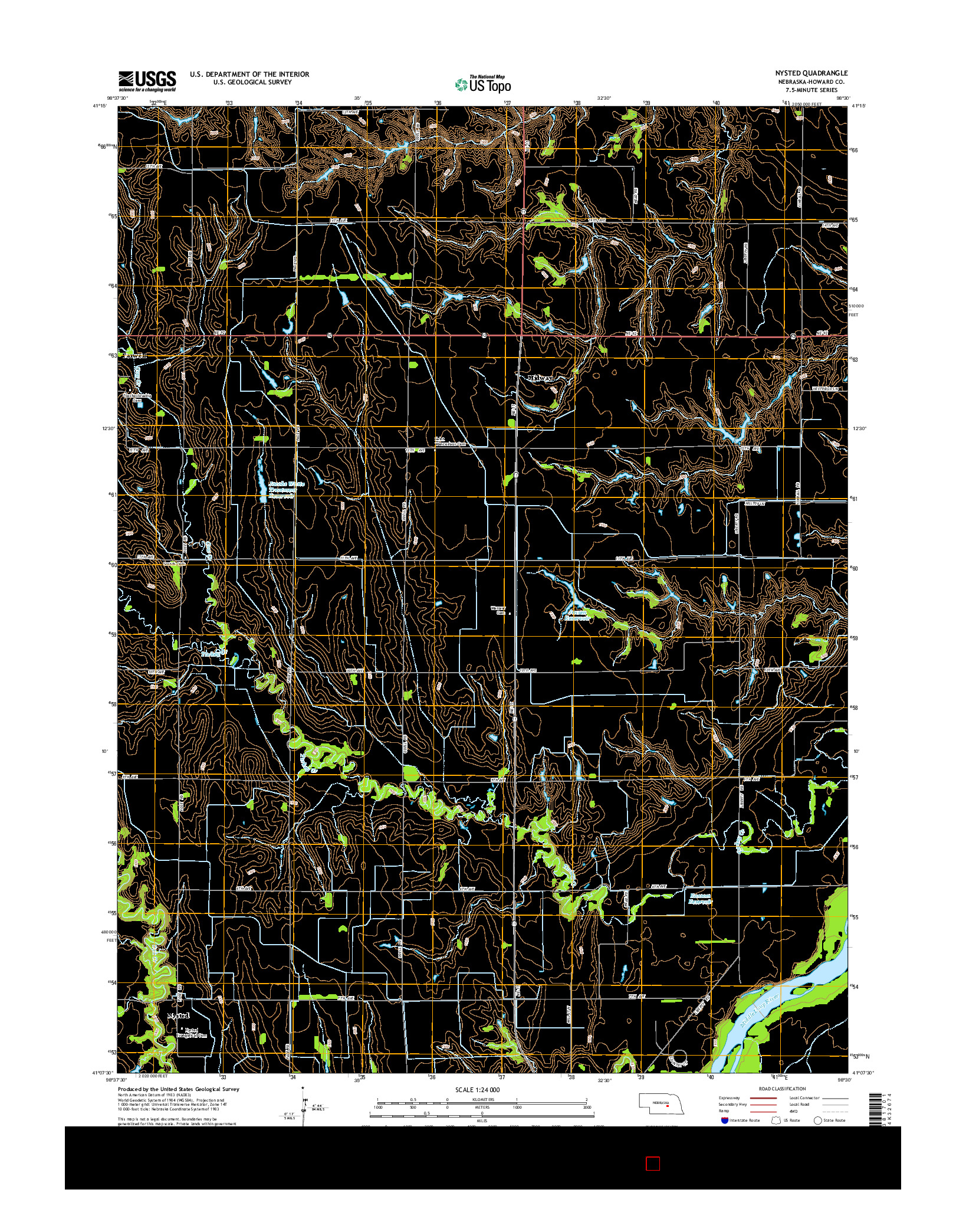 USGS US TOPO 7.5-MINUTE MAP FOR NYSTED, NE 2014