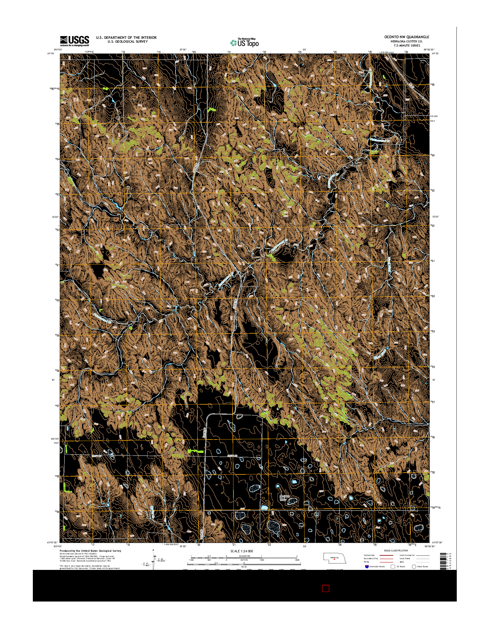 USGS US TOPO 7.5-MINUTE MAP FOR OCONTO NW, NE 2014