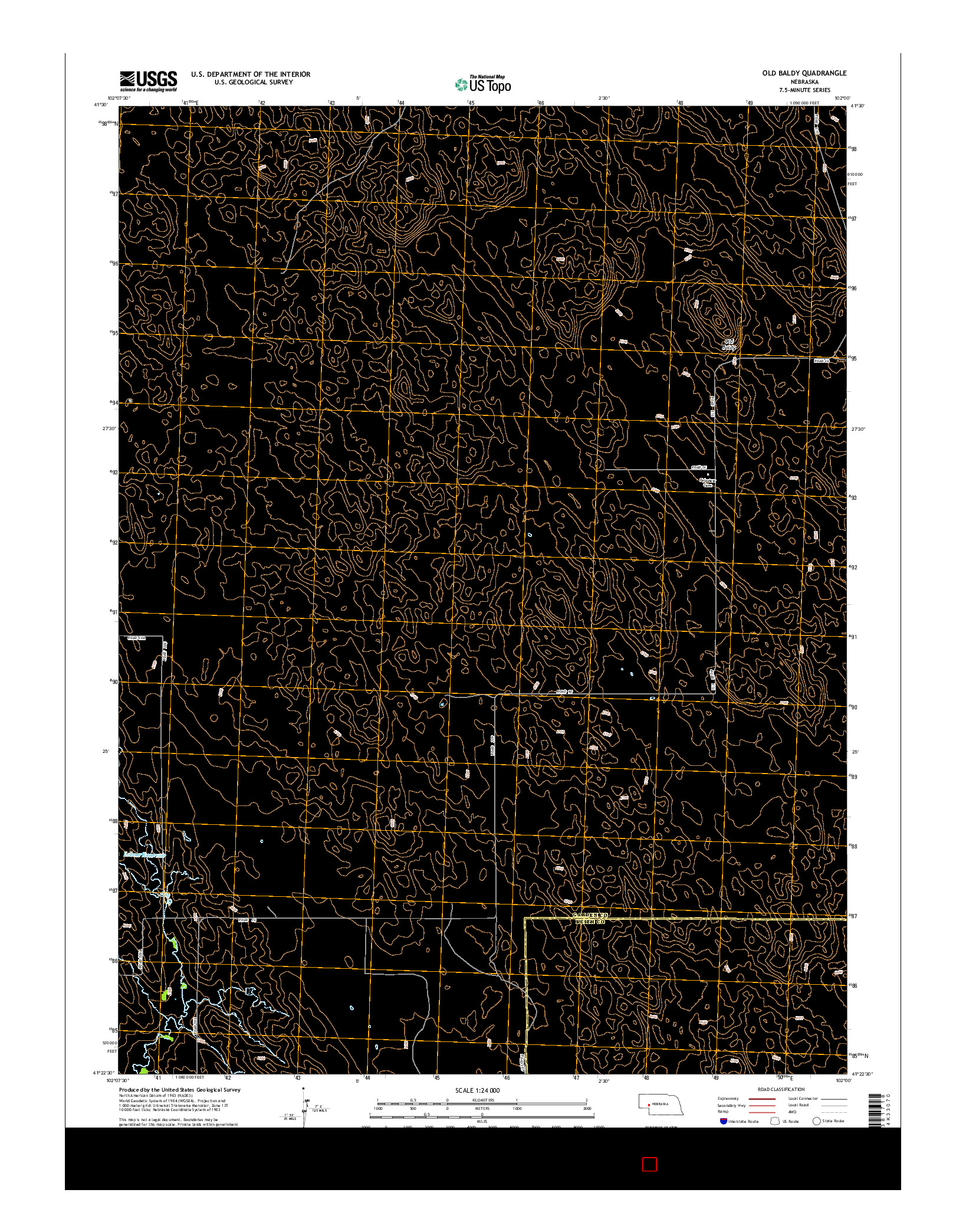 USGS US TOPO 7.5-MINUTE MAP FOR OLD BALDY, NE 2014