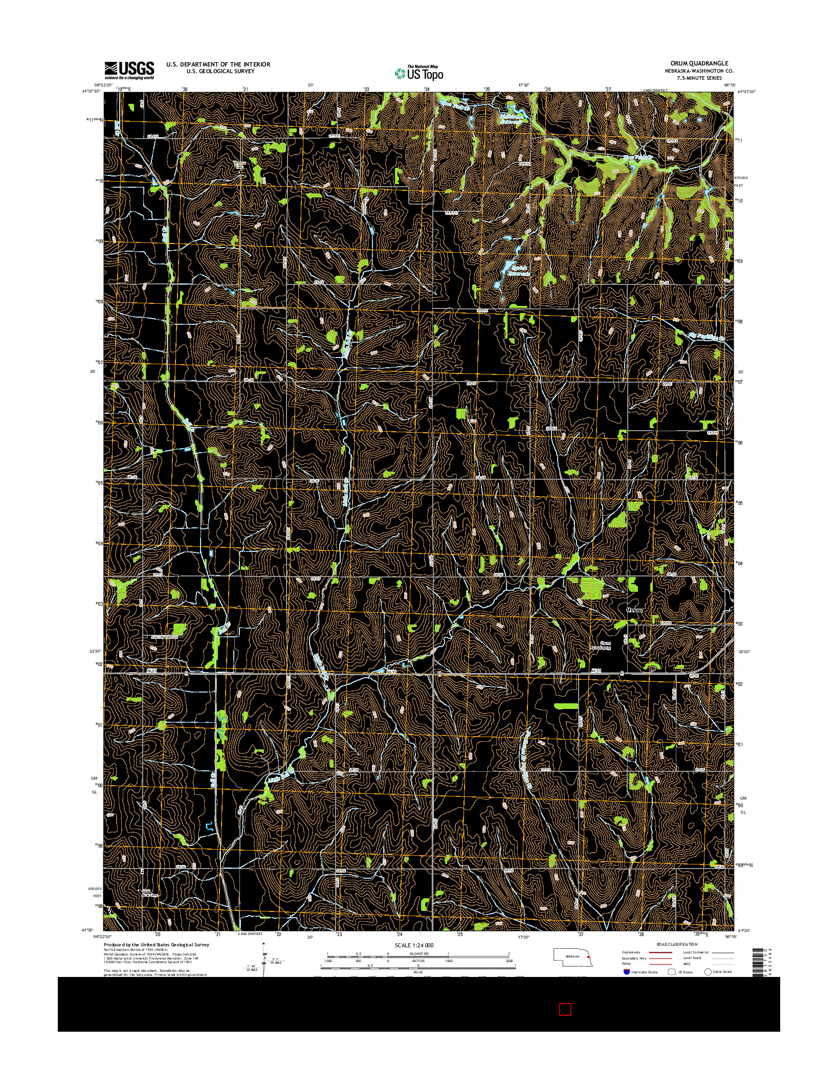 USGS US TOPO 7.5-MINUTE MAP FOR ORUM, NE 2014