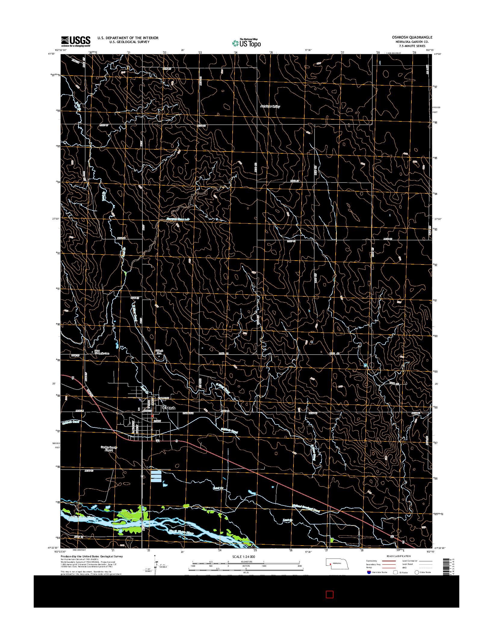 USGS US TOPO 7.5-MINUTE MAP FOR OSHKOSH, NE 2014
