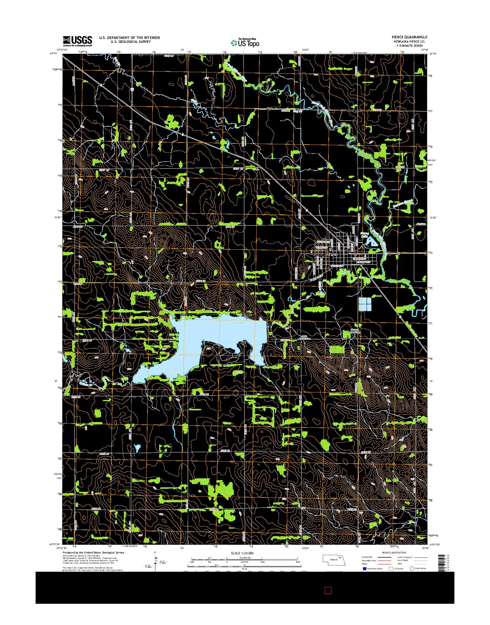 USGS US TOPO 7.5-MINUTE MAP FOR PIERCE, NE 2014