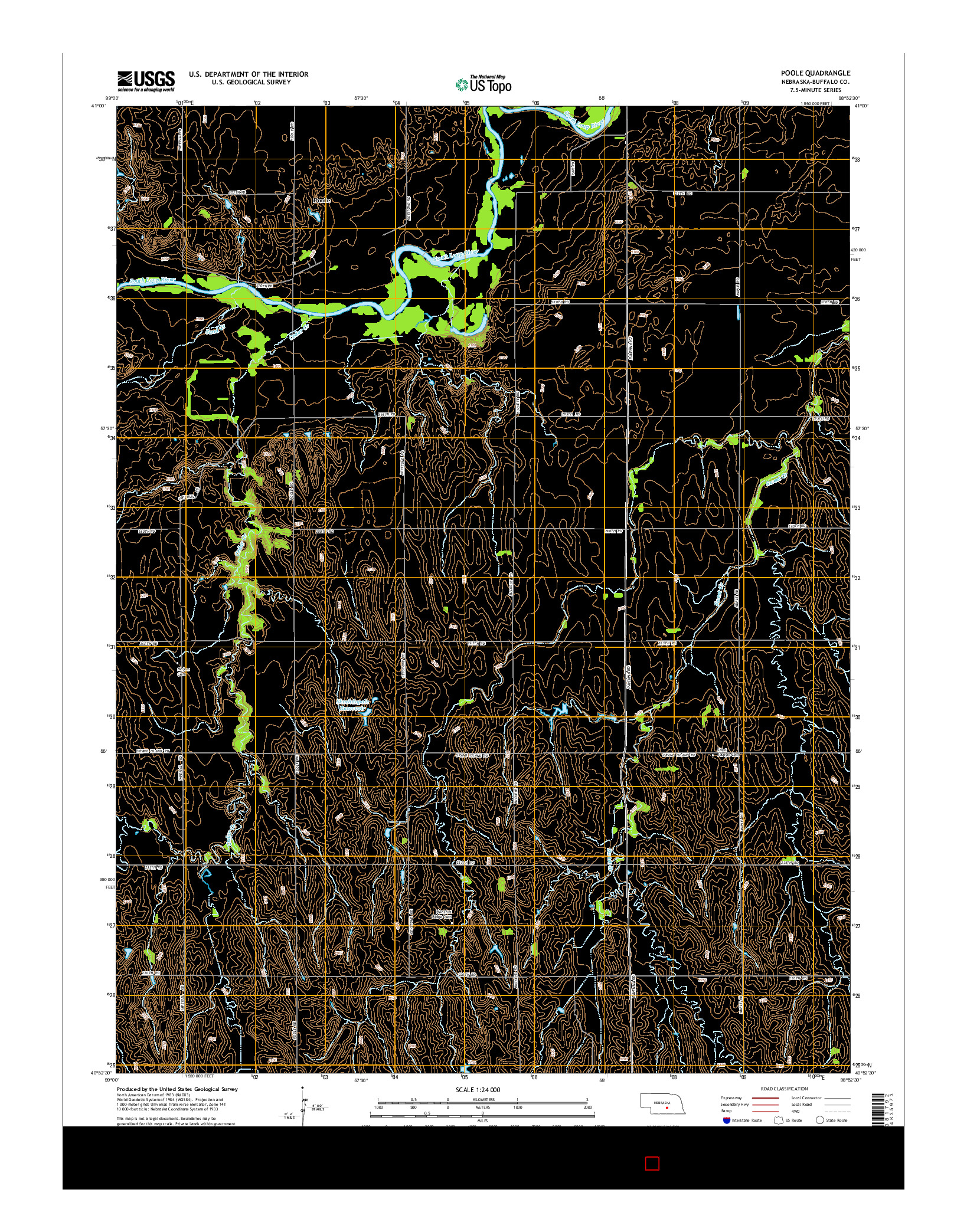 USGS US TOPO 7.5-MINUTE MAP FOR POOLE, NE 2014