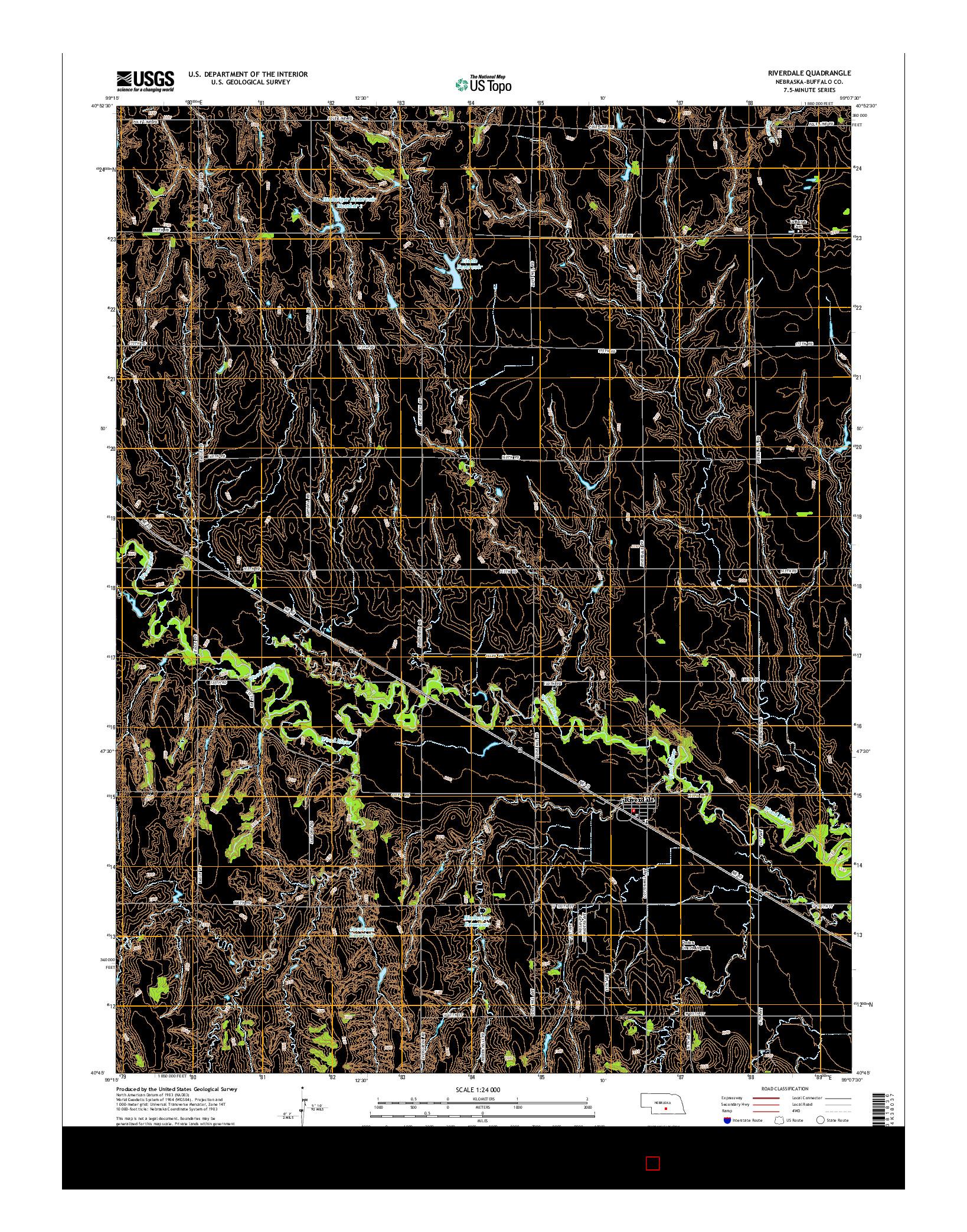 USGS US TOPO 7.5-MINUTE MAP FOR RIVERDALE, NE 2014