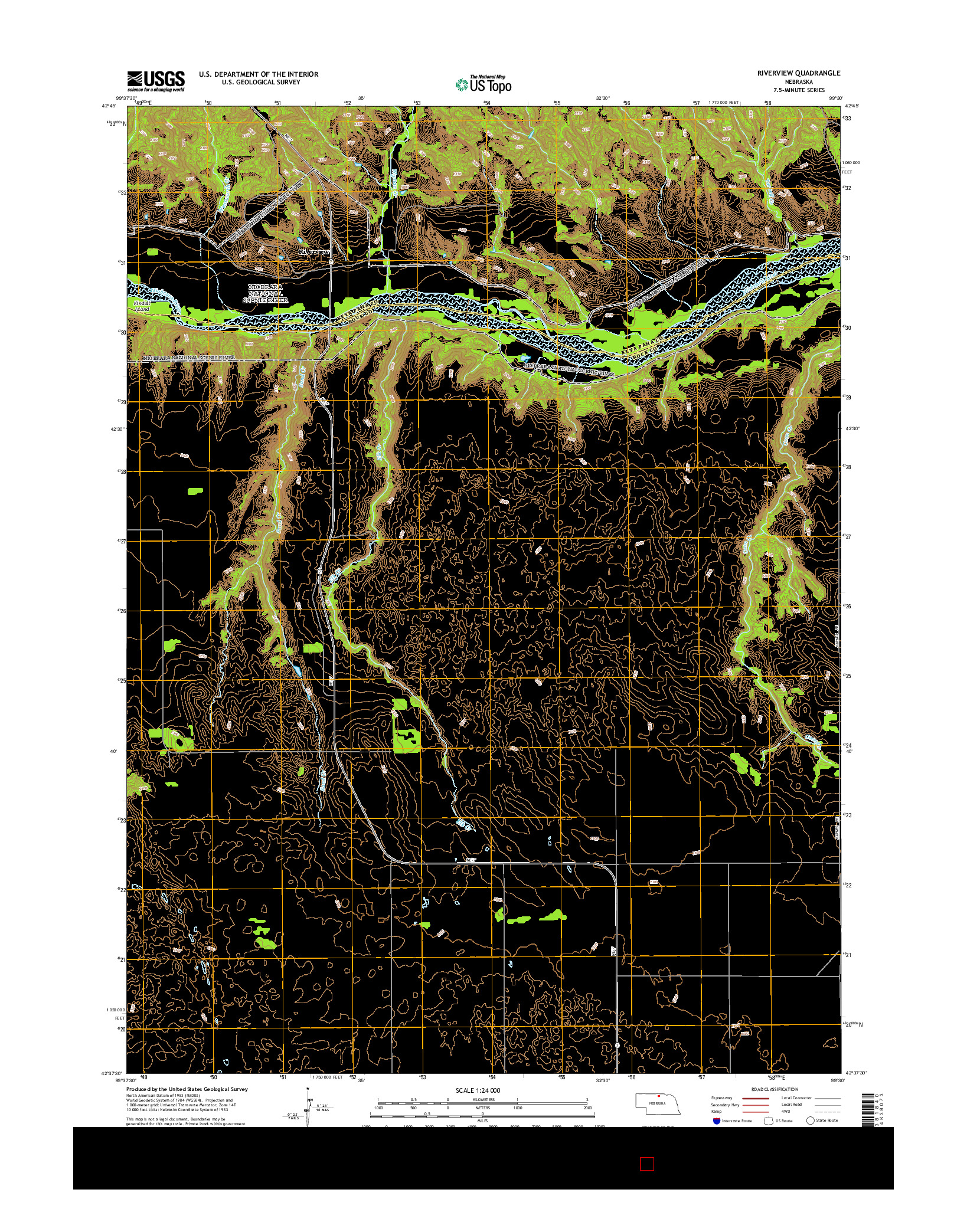 USGS US TOPO 7.5-MINUTE MAP FOR RIVERVIEW, NE 2014