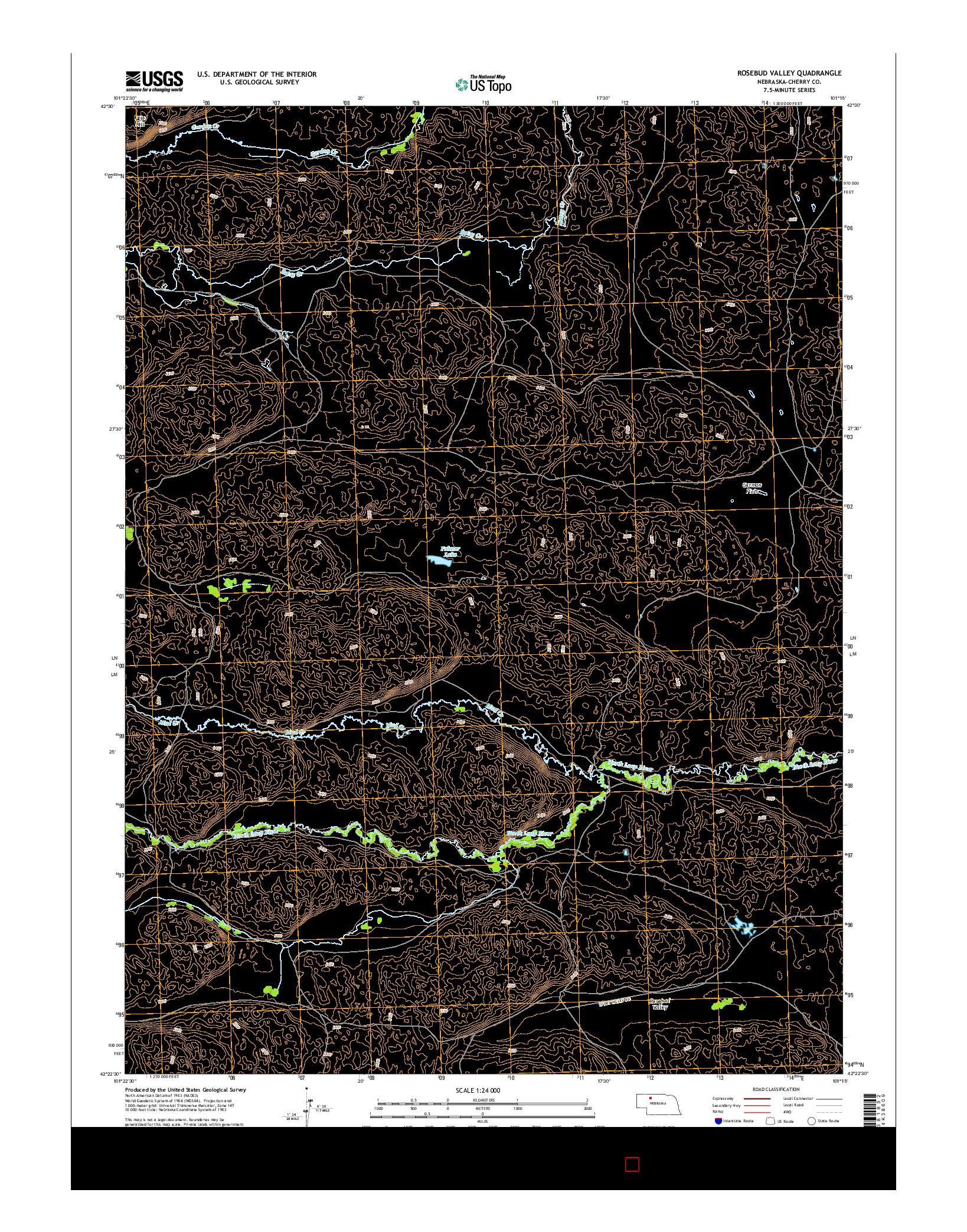 USGS US TOPO 7.5-MINUTE MAP FOR ROSEBUD VALLEY, NE 2014