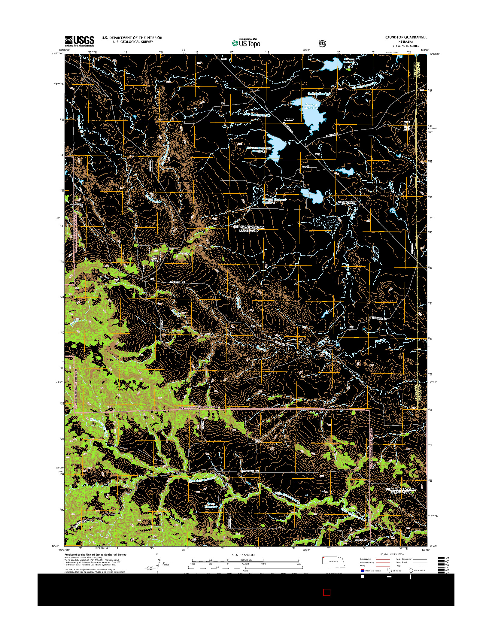 USGS US TOPO 7.5-MINUTE MAP FOR ROUNDTOP, NE 2014