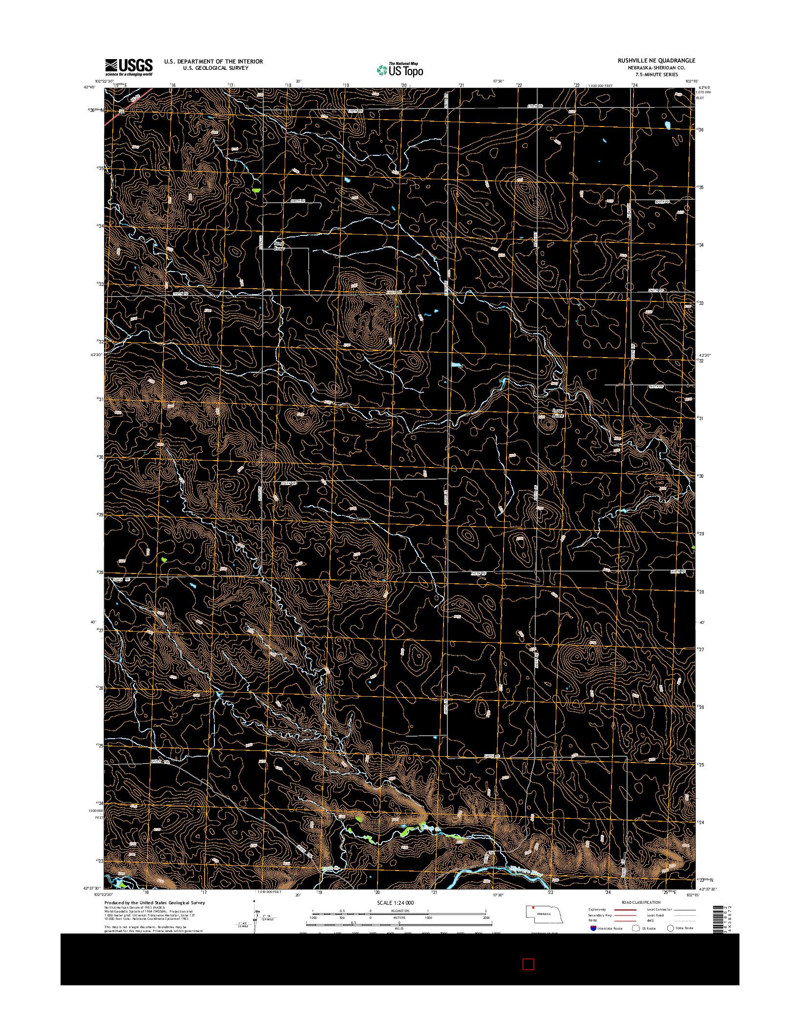 USGS US TOPO 7.5-MINUTE MAP FOR RUSHVILLE NE, NE 2014