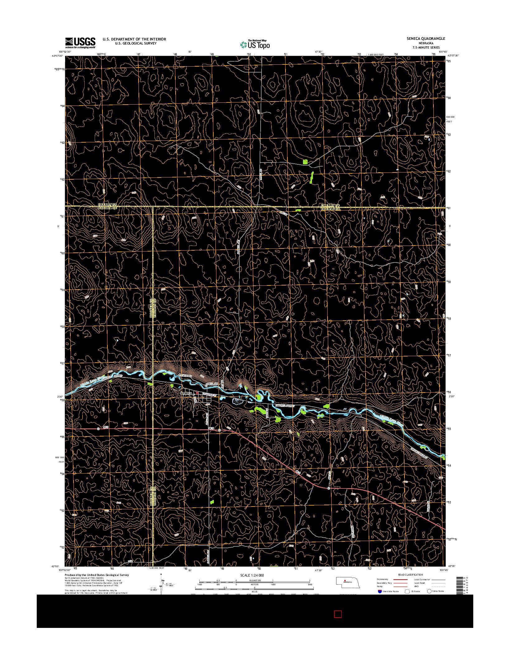 USGS US TOPO 7.5-MINUTE MAP FOR SENECA, NE 2014