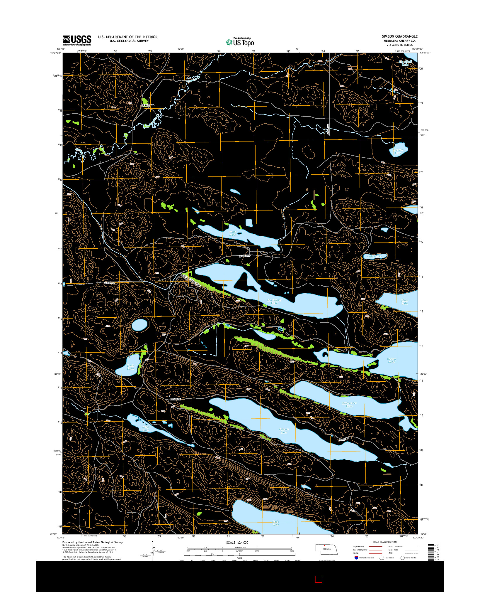 USGS US TOPO 7.5-MINUTE MAP FOR SIMEON, NE 2014
