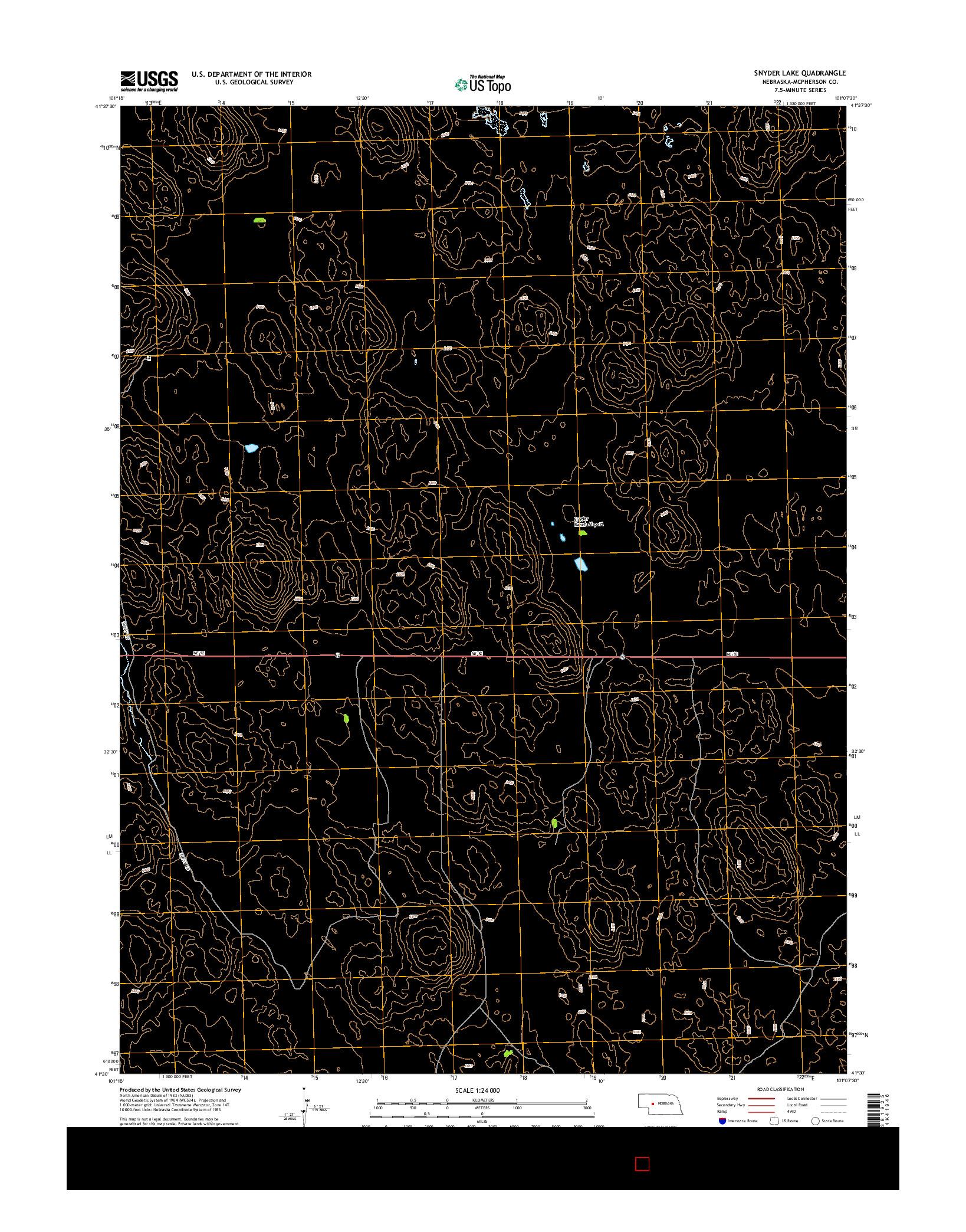 USGS US TOPO 7.5-MINUTE MAP FOR SNYDER LAKE, NE 2014