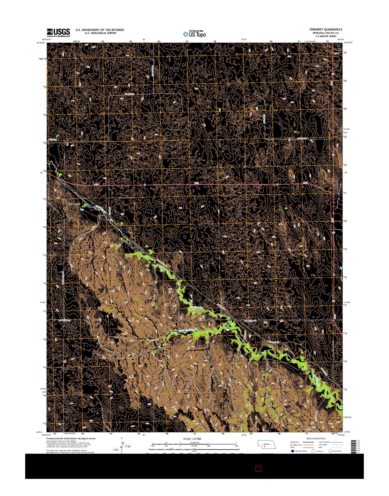 USGS US TOPO 7.5-MINUTE MAP FOR SOMERSET, NE 2014