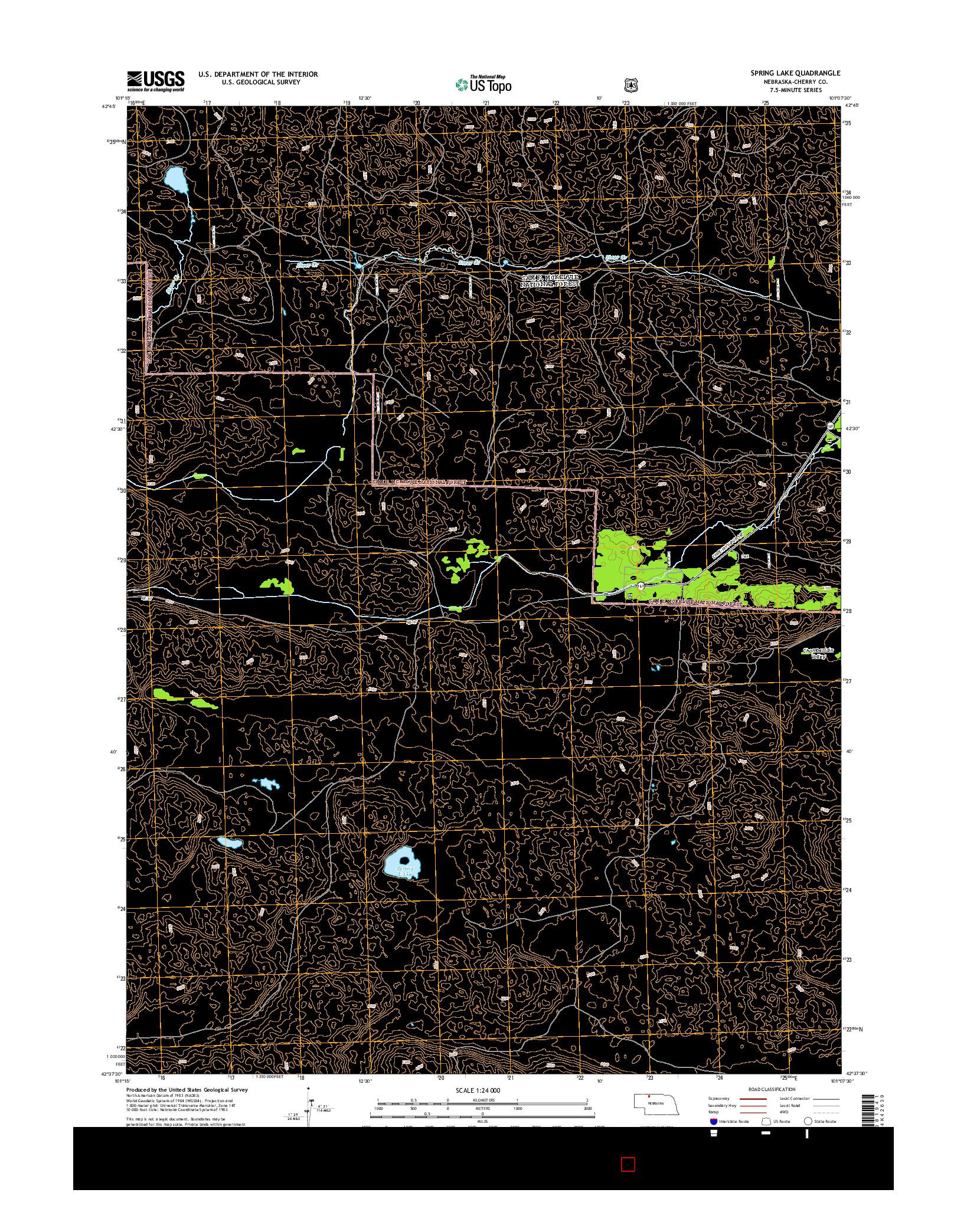 USGS US TOPO 7.5-MINUTE MAP FOR SPRING LAKE, NE 2014
