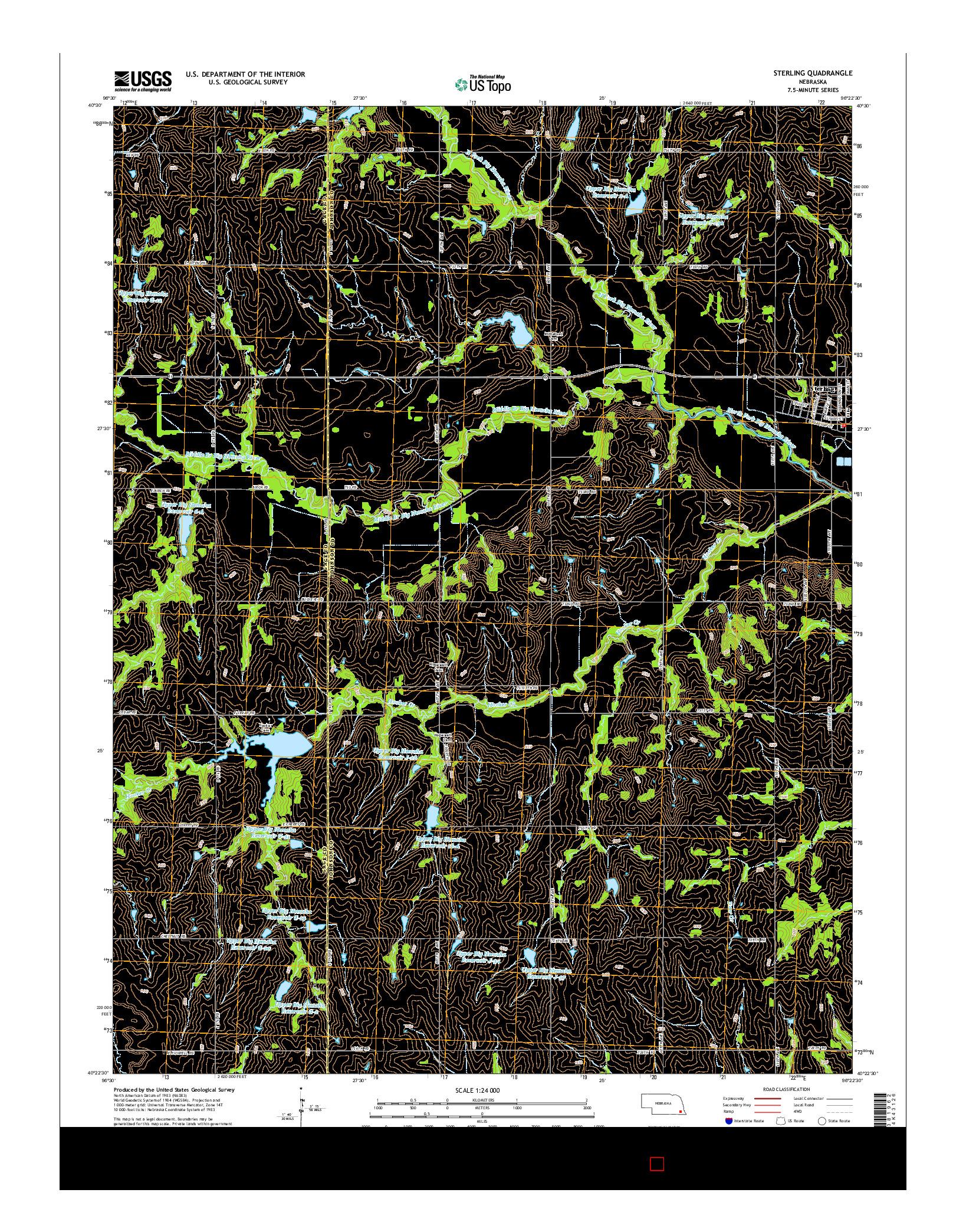 USGS US TOPO 7.5-MINUTE MAP FOR STERLING, NE 2014