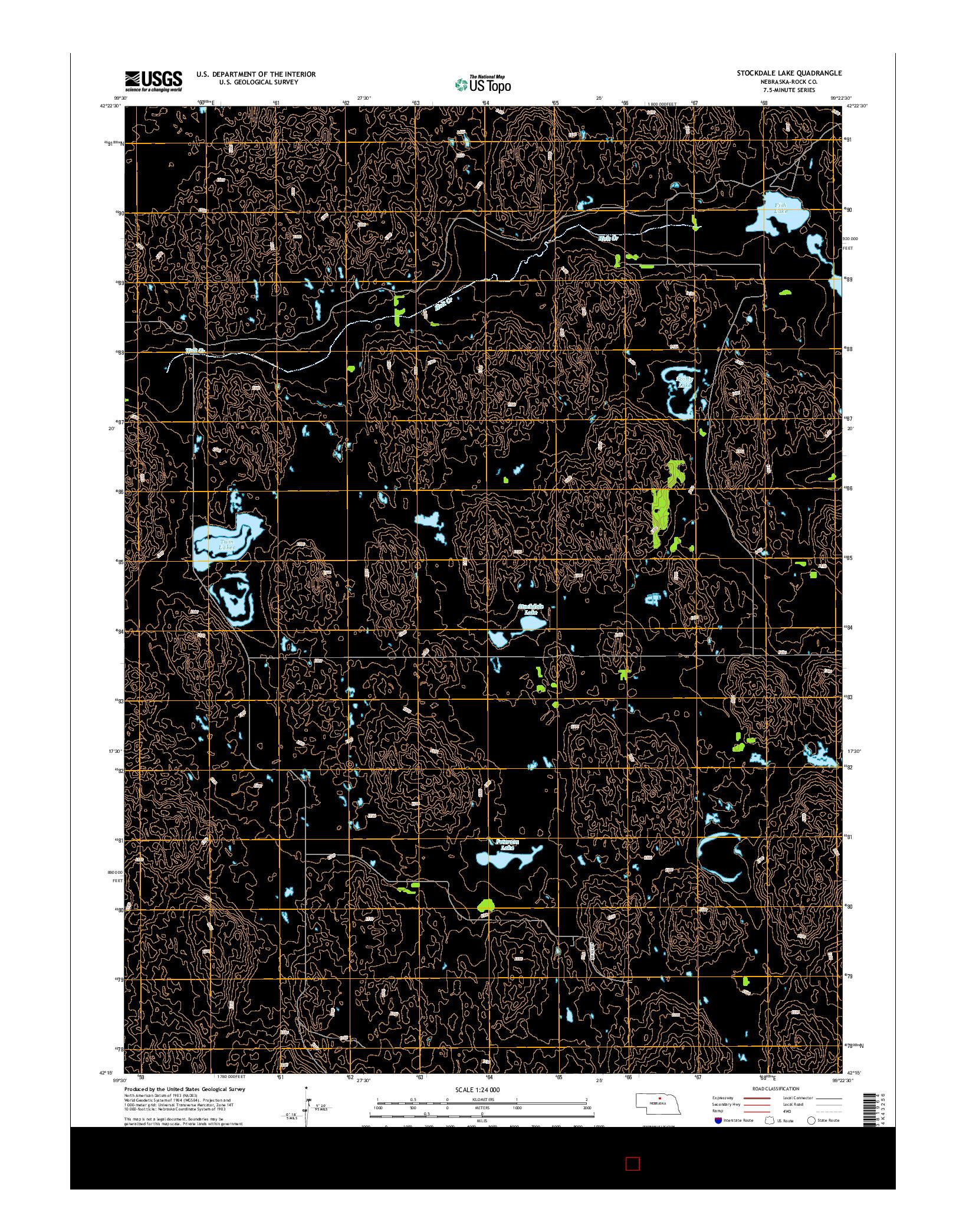 USGS US TOPO 7.5-MINUTE MAP FOR STOCKDALE LAKE, NE 2014