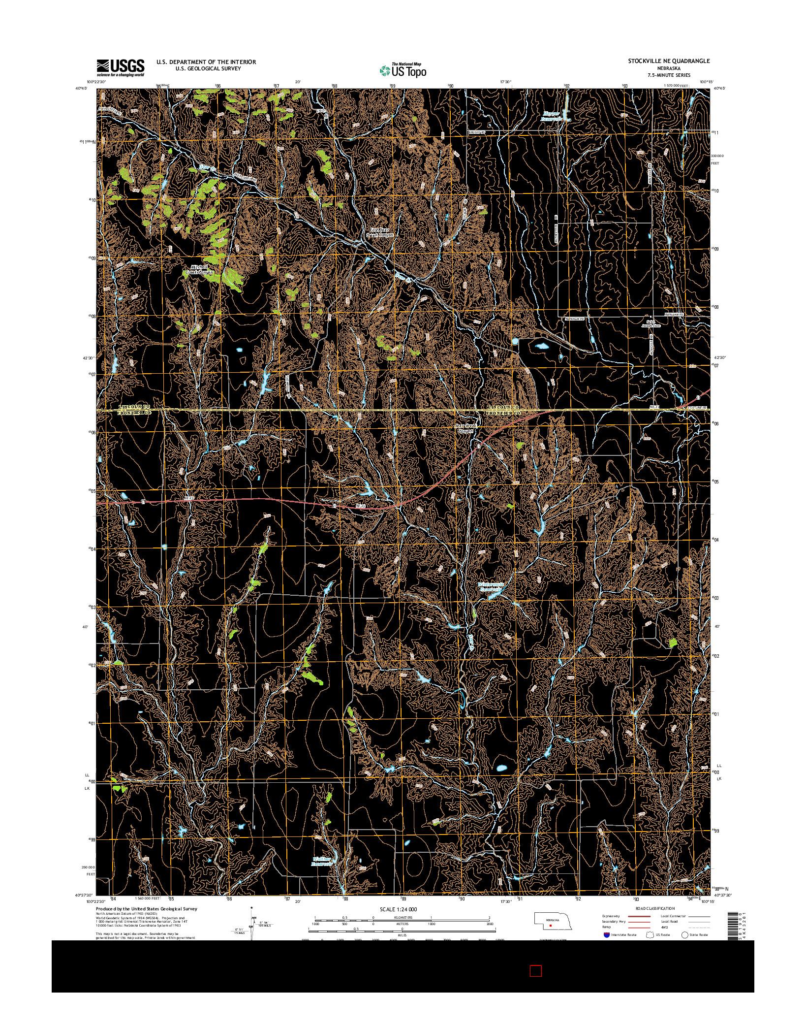 USGS US TOPO 7.5-MINUTE MAP FOR STOCKVILLE NE, NE 2014