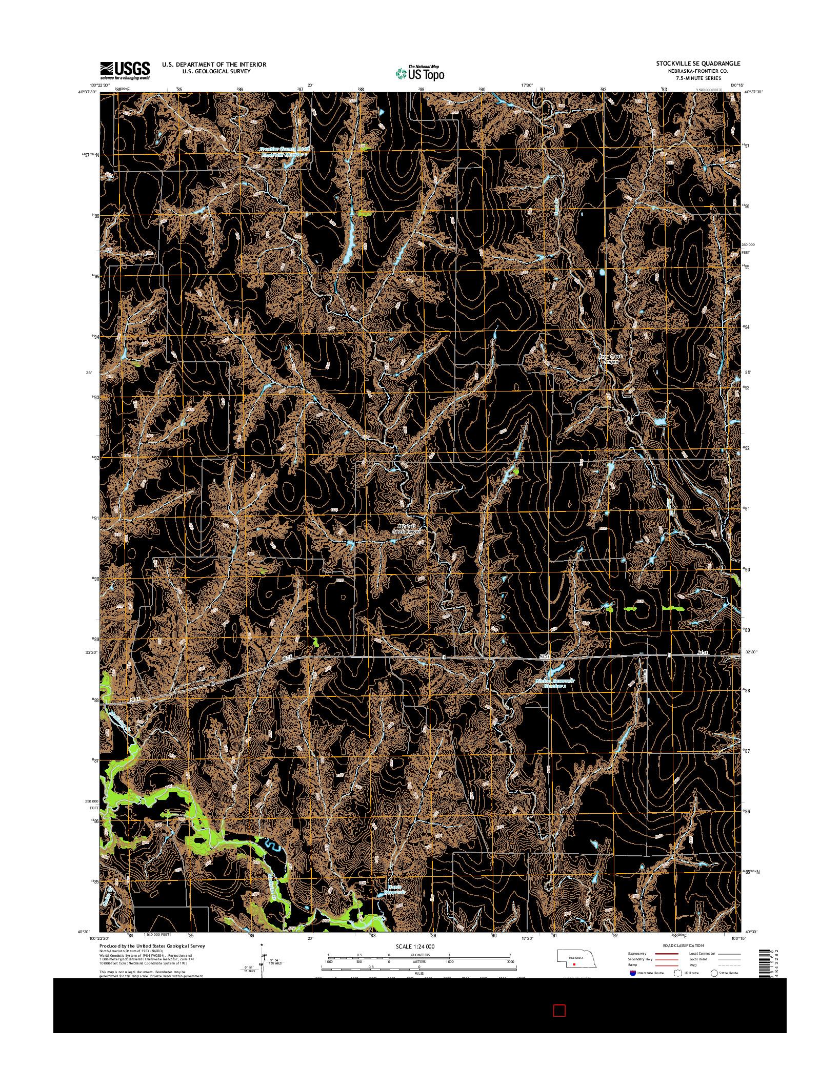USGS US TOPO 7.5-MINUTE MAP FOR STOCKVILLE SE, NE 2014