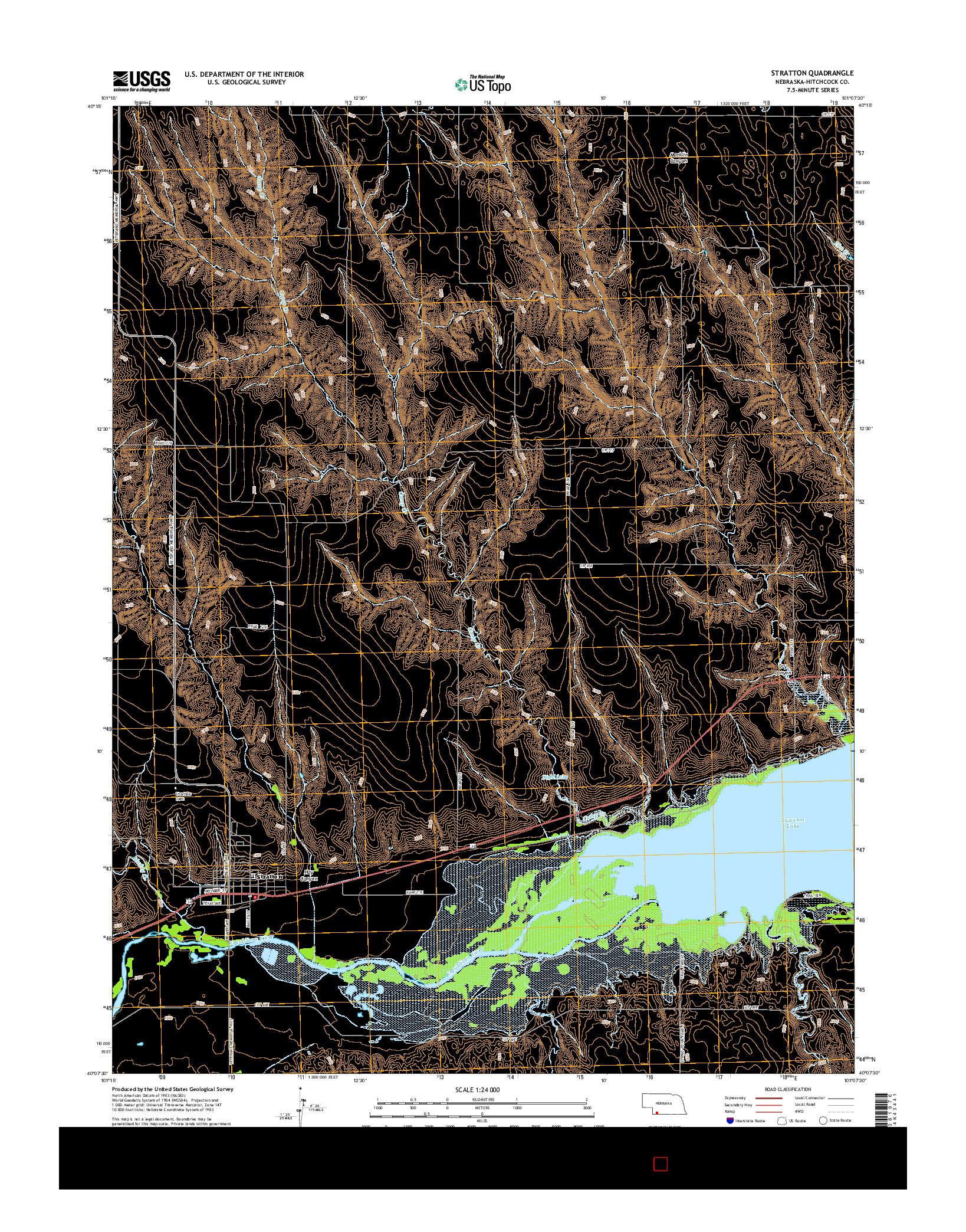 USGS US TOPO 7.5-MINUTE MAP FOR STRATTON, NE 2014
