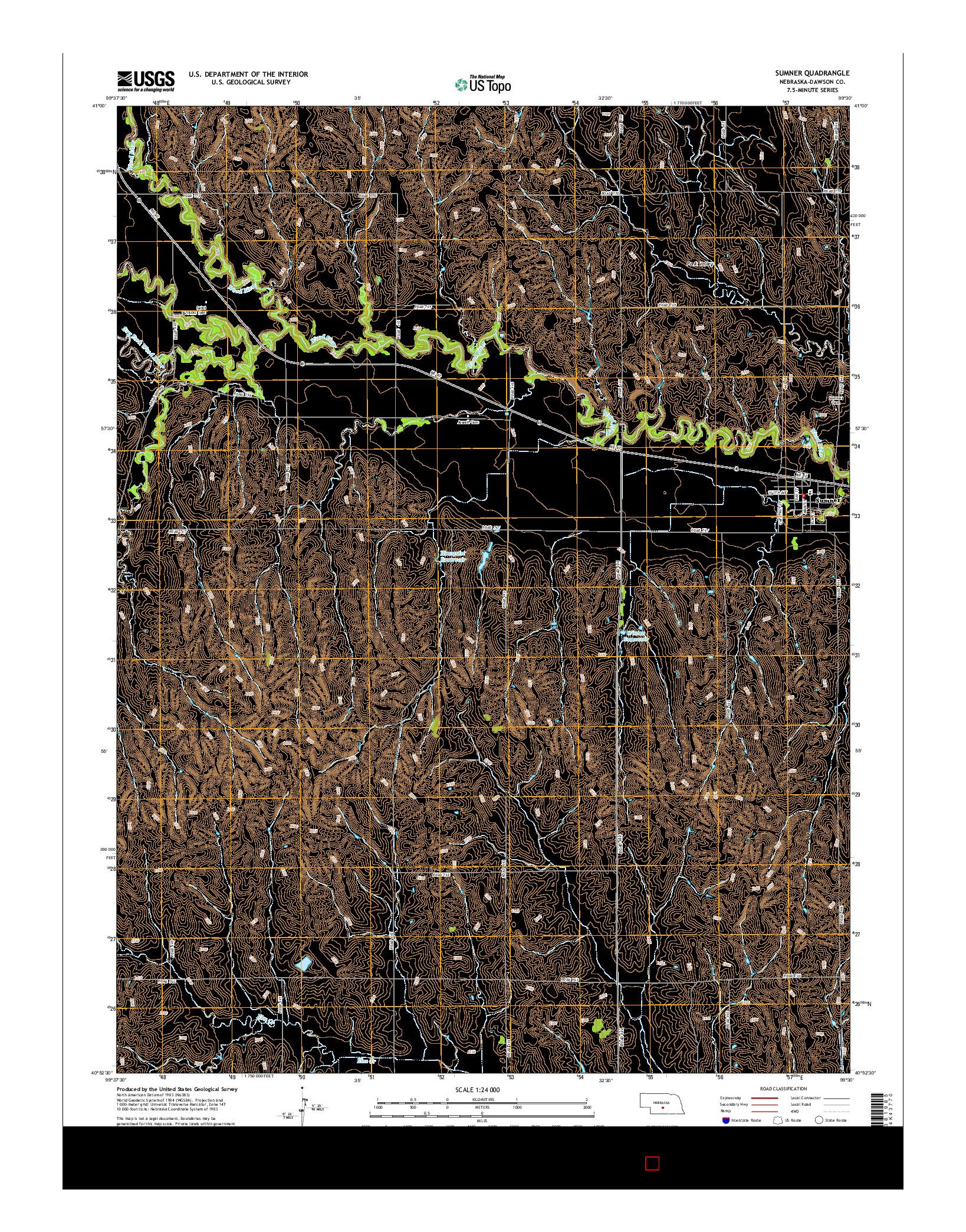 USGS US TOPO 7.5-MINUTE MAP FOR SUMNER, NE 2014