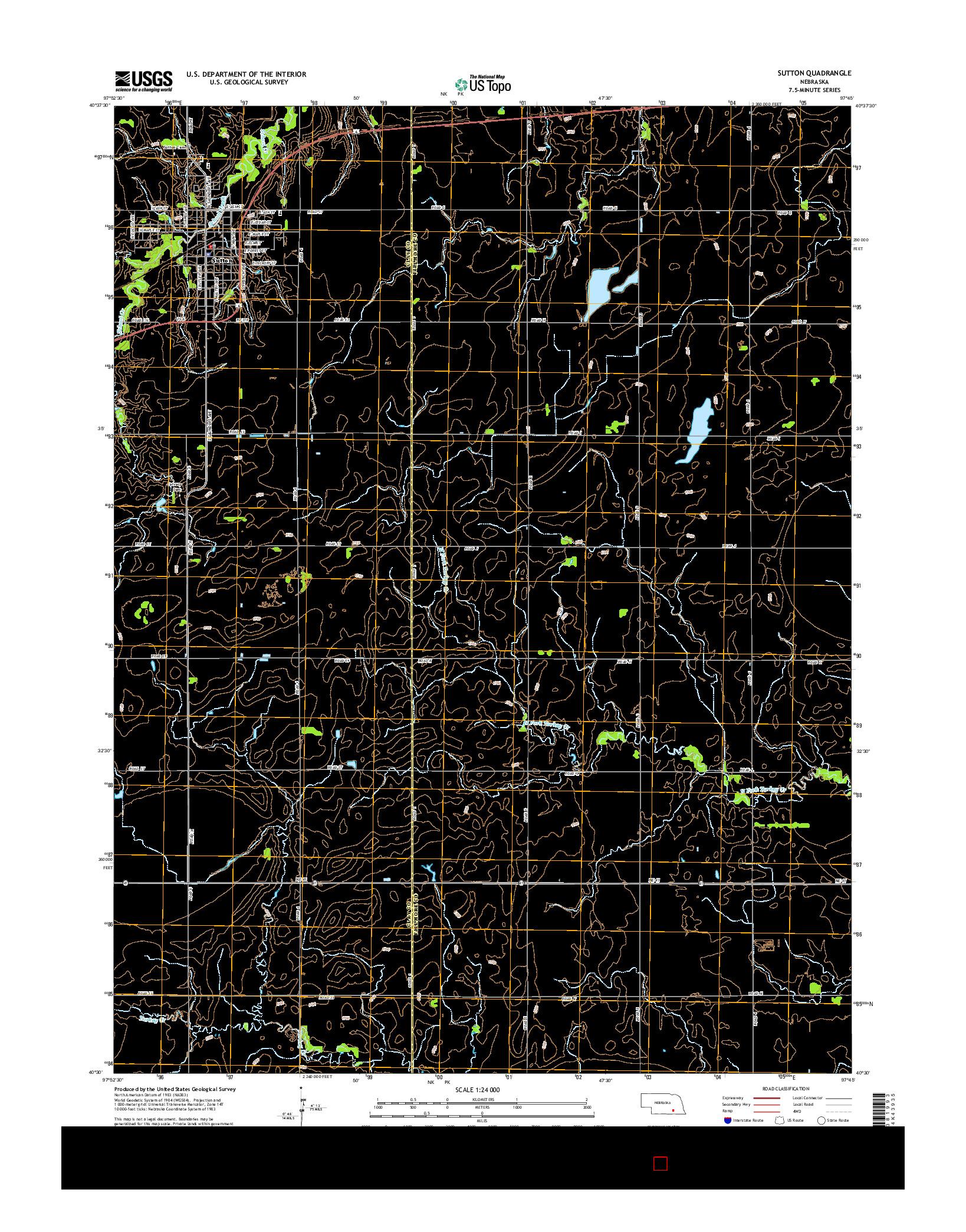USGS US TOPO 7.5-MINUTE MAP FOR SUTTON, NE 2014